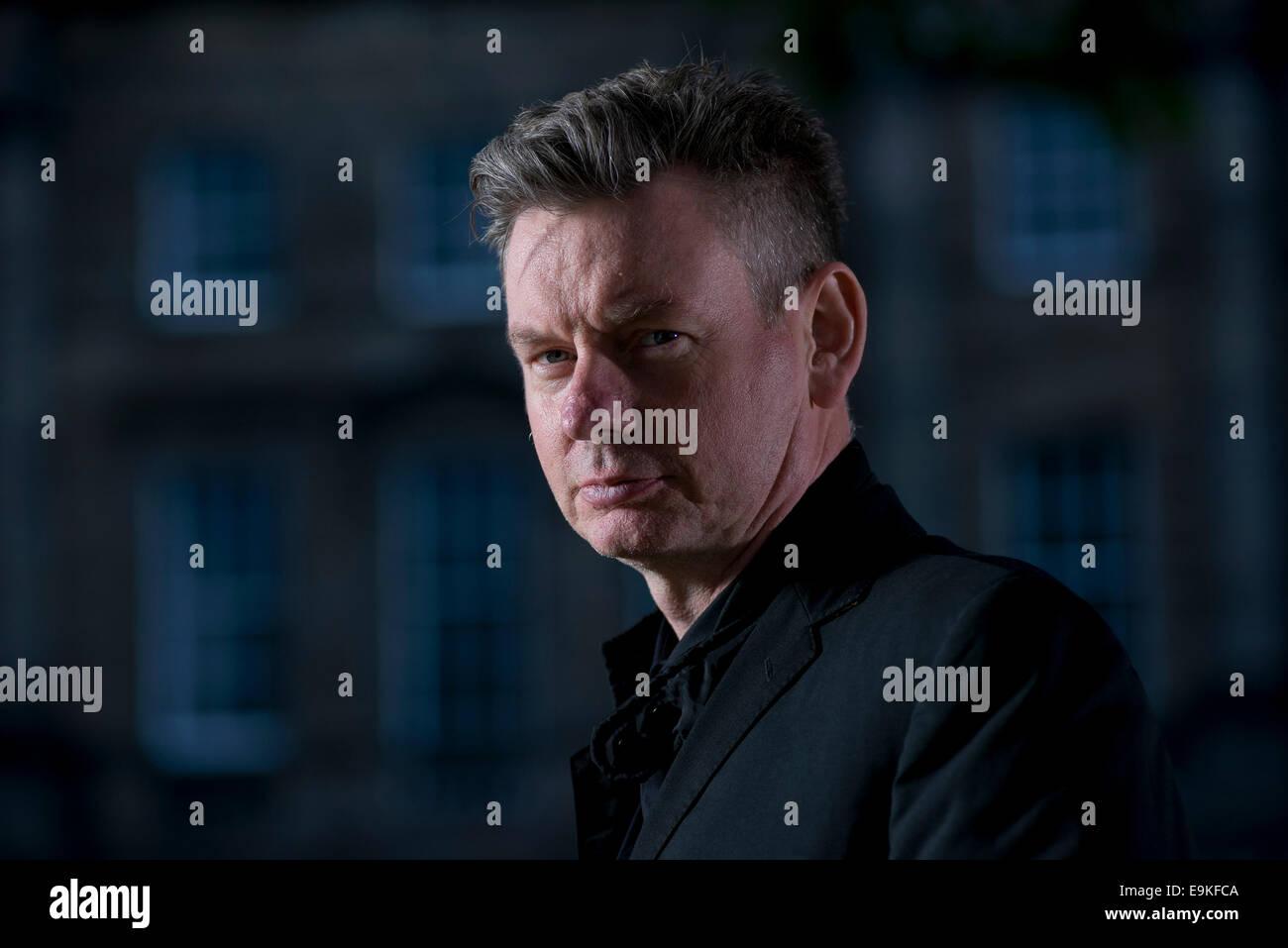 Schottischer Schauspieler John Gordon Sinclair erscheint das Edinburgh International Book Festival. Stockbild