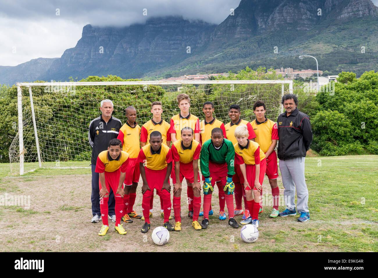 Jugend Fussball Nationalmannschaft U15 Mit Trainer Posen