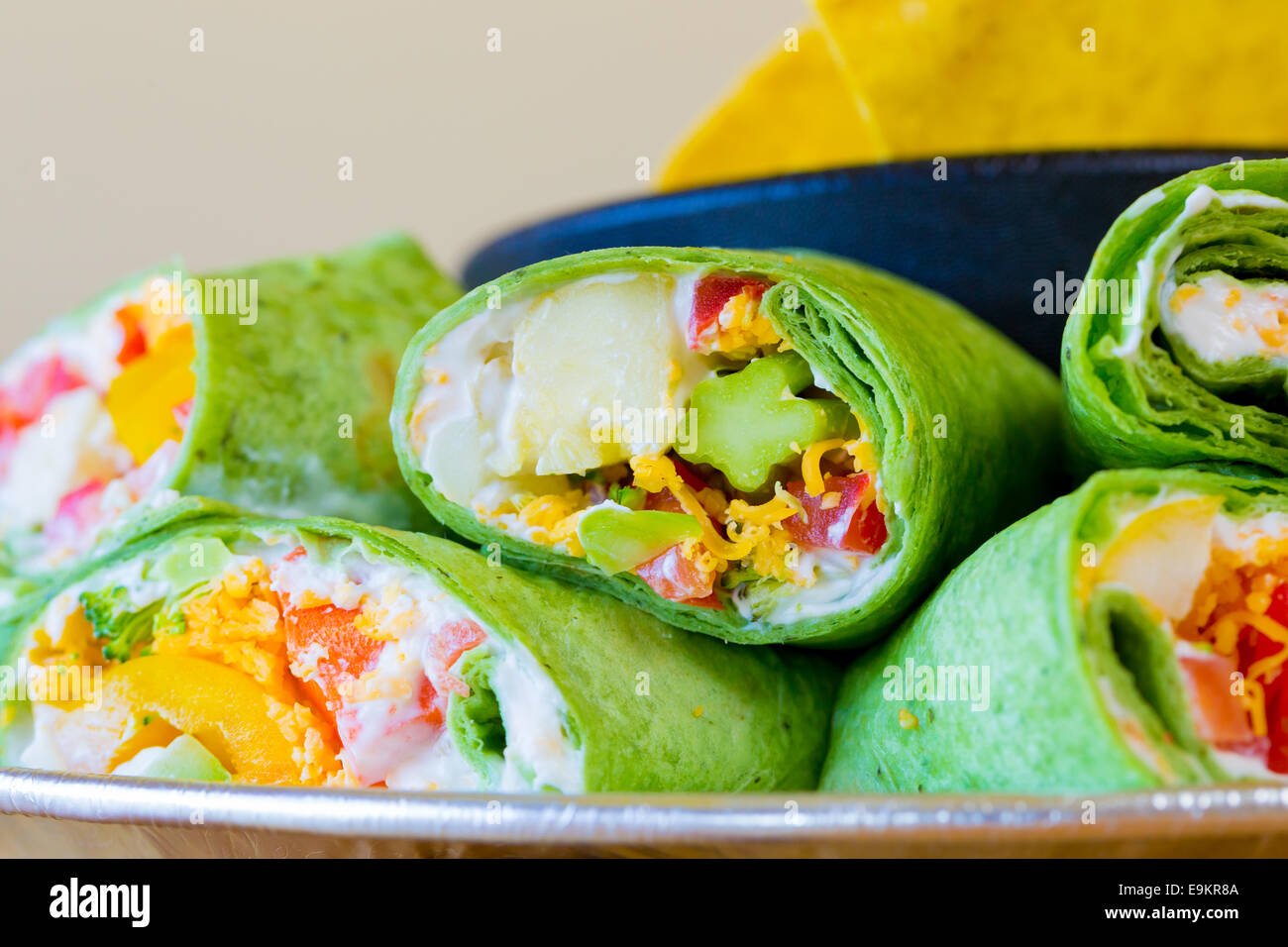 Mexikanische Restaurant bietet eine Gluten-freie Alternative zu ihrer traditionellen Küche mit diesen vegan Stockbild