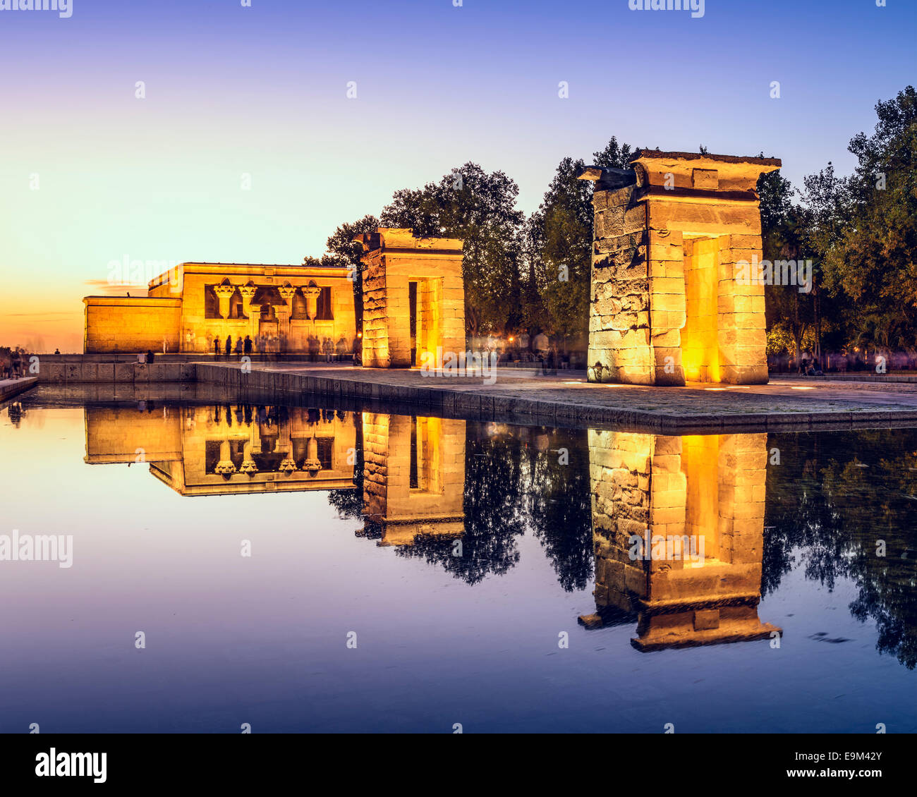 Tempel Debod in Madrid, Spanien. Stockbild