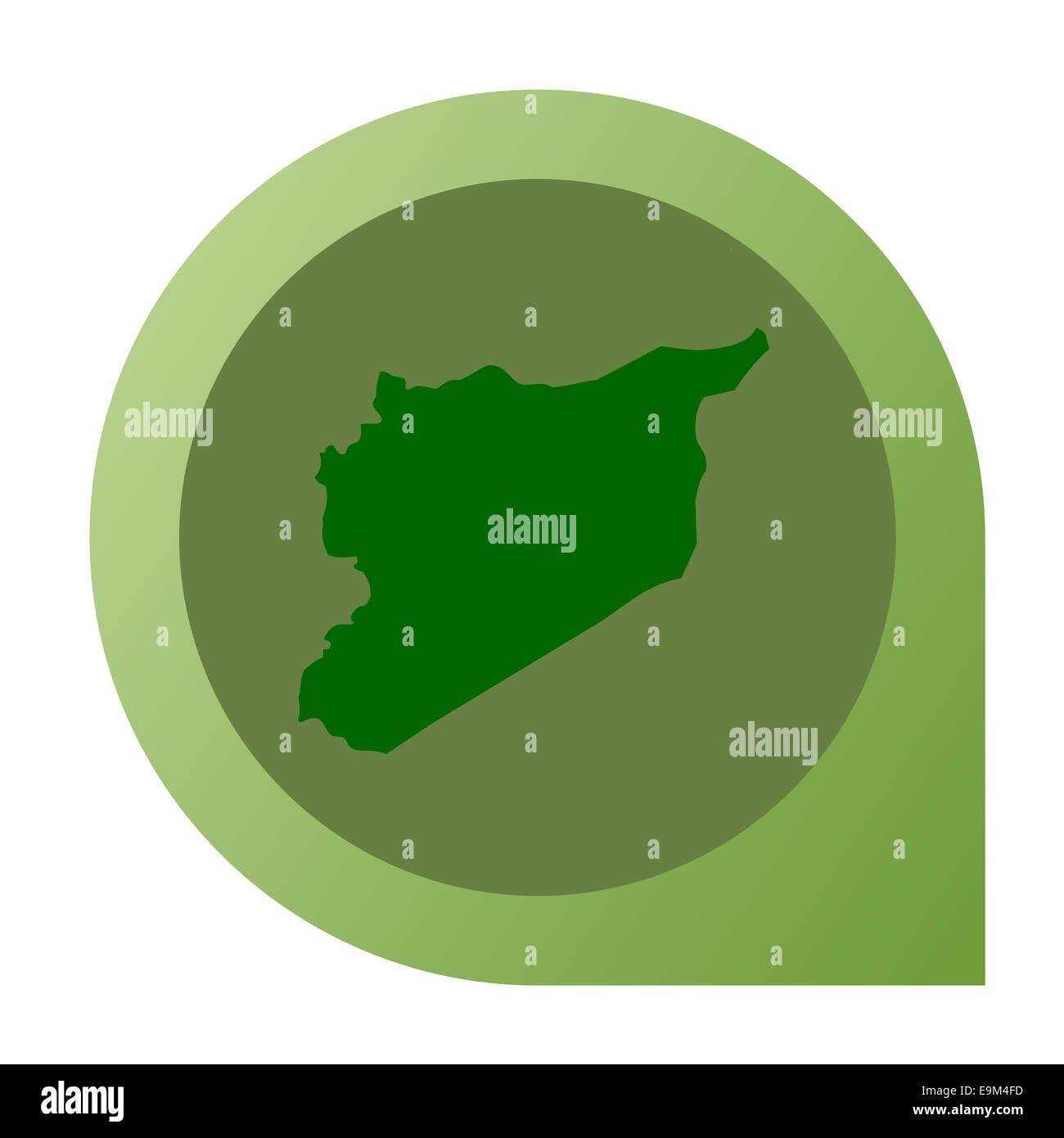 Isolierte Syrien Karte Marker Pin Flache Web Design Stil. Stockbild