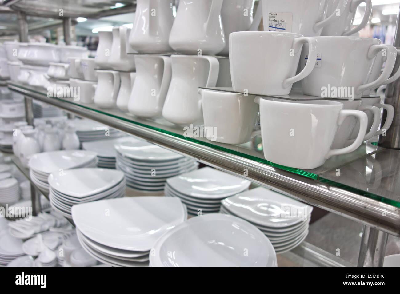 Küche Geschirr shop Stockbild