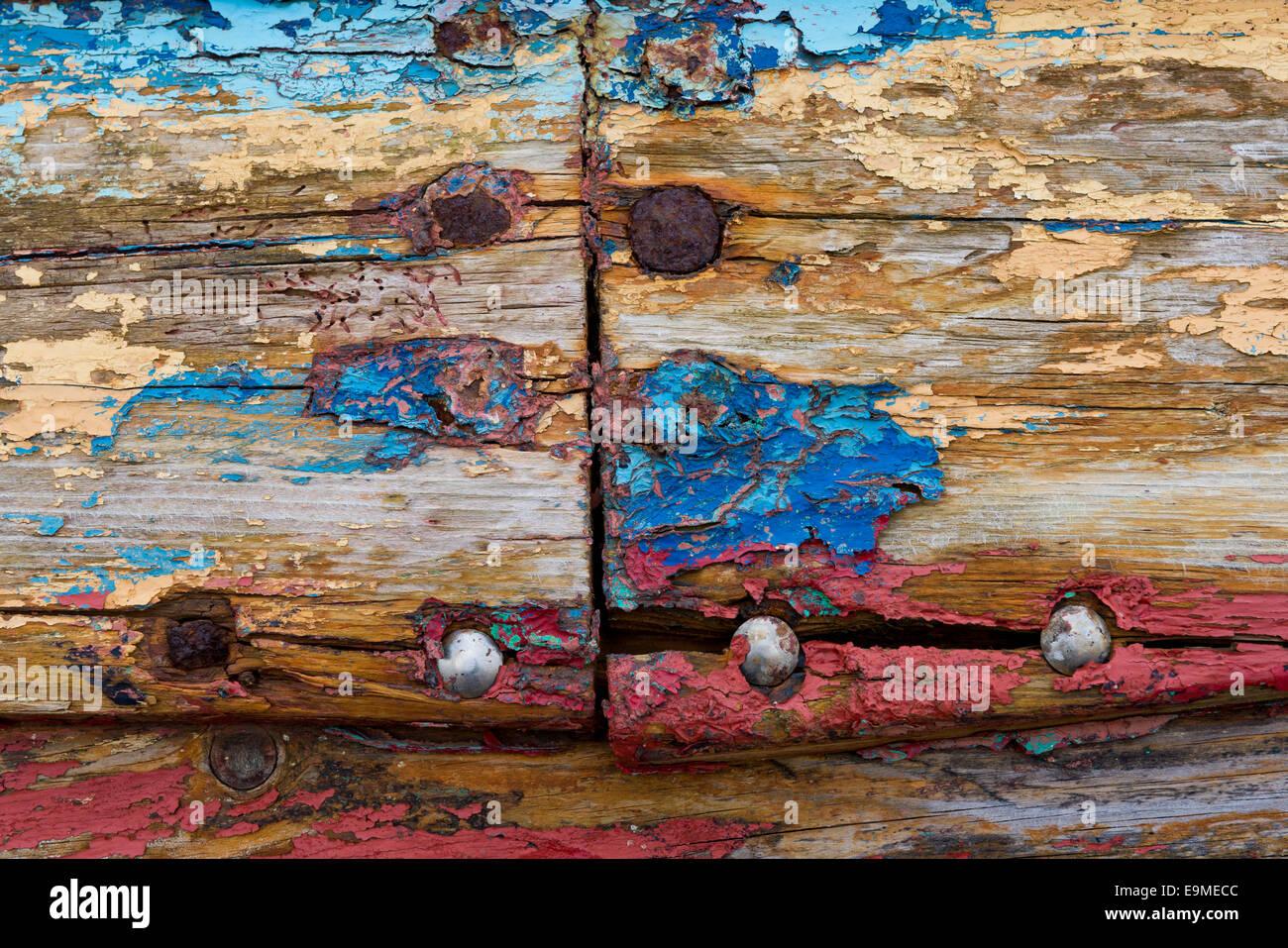 Old Wooden Paint Peeling Off Stockfotos & Old Wooden Paint Peeling ...