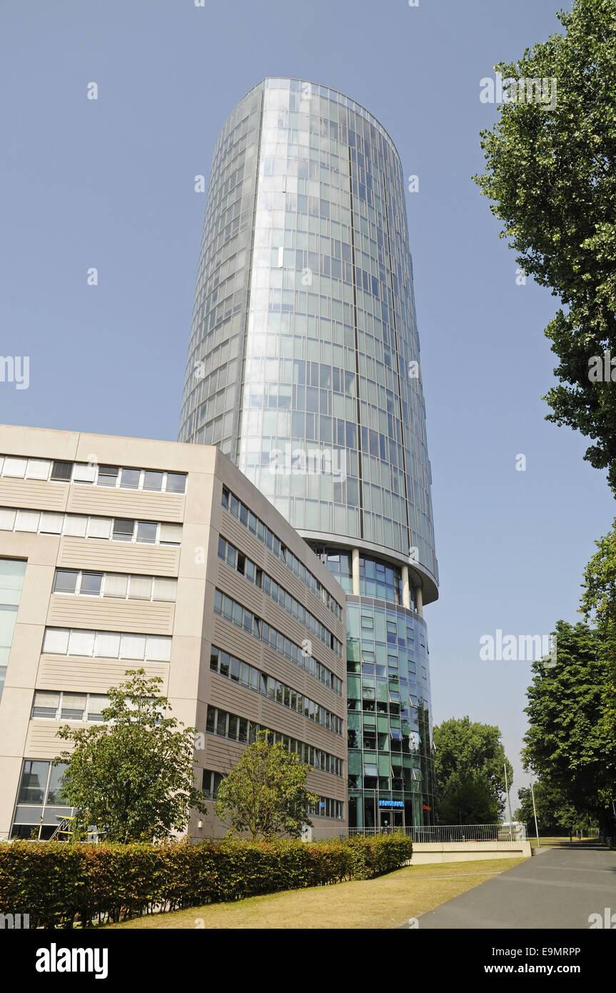 Dreieck, Büroturm, Köln Stockbild