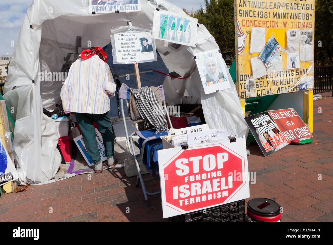 Concepcion Picciotto, Friedensaktivistin - Washington, DC USA Stockbild