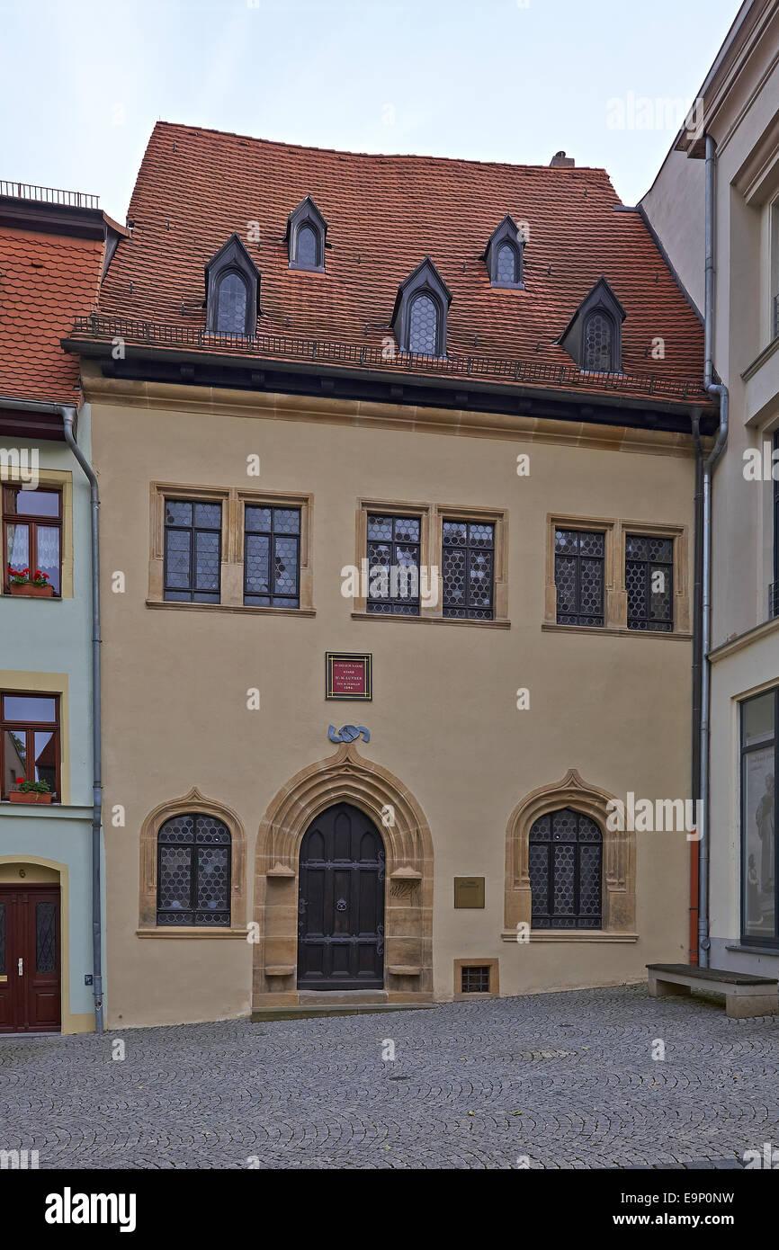 Luthers Sterbehaus in Eisleben Deutschland Stockfoto