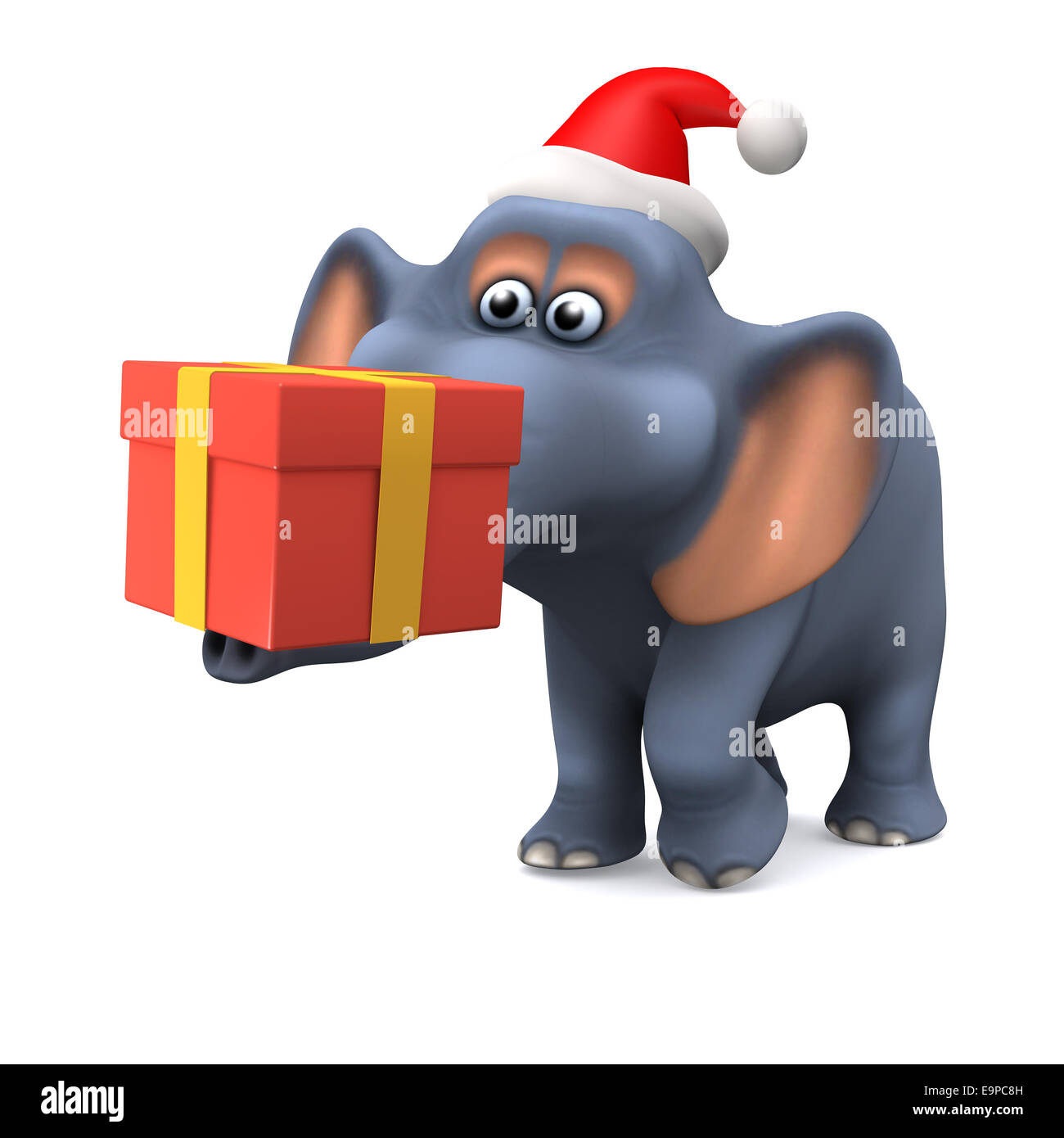 3D Rendering eines Cartoon-Stil-Elefanten tragen ein ...