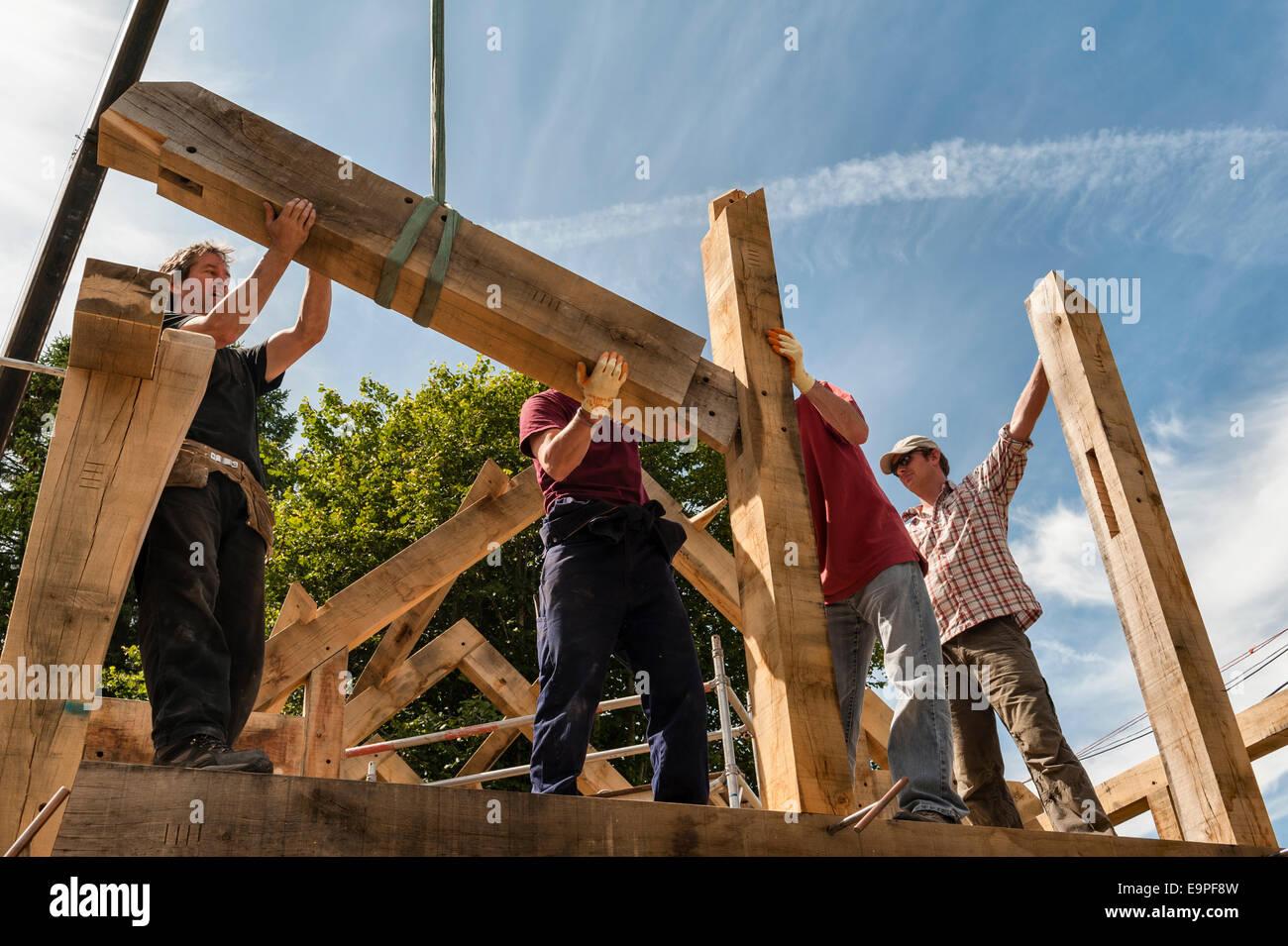 Eine traditionelle Eiche Bauholz gerahmt Haus, Herefordshire, UK Stockbild