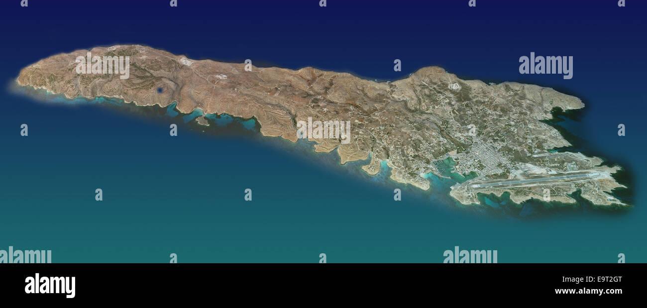 Italien Karte Lampedusa.Insel Lampedusa Karte Luftbild Bilder Sind Von Der Nasa