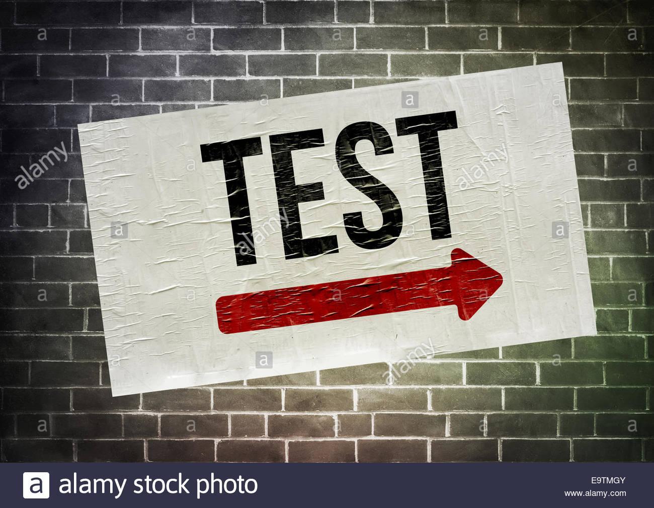 TEST - Plakat-Konzept Stockbild