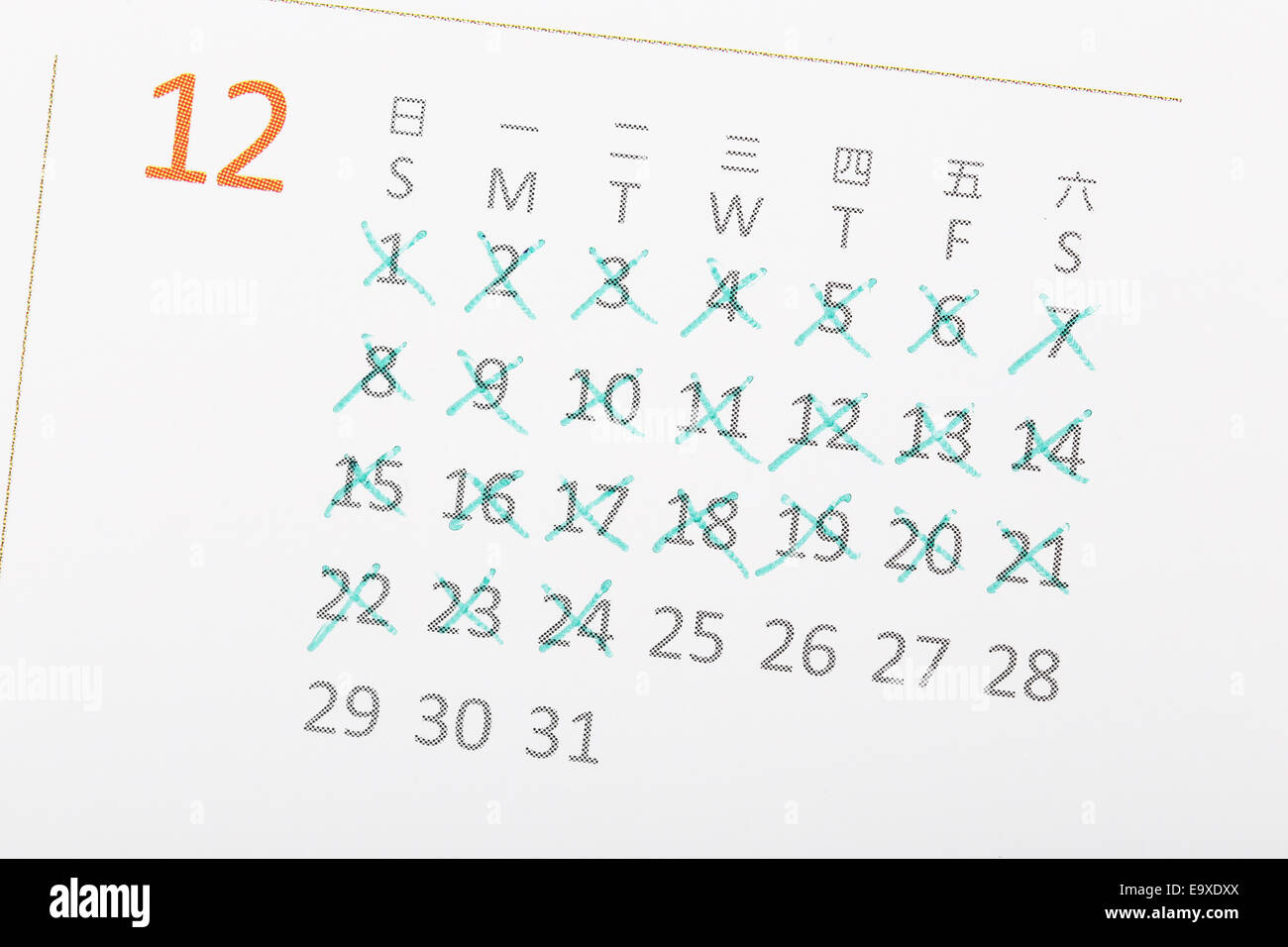 Days Until Christmas Stockfotos & Days Until Christmas Bilder - Alamy