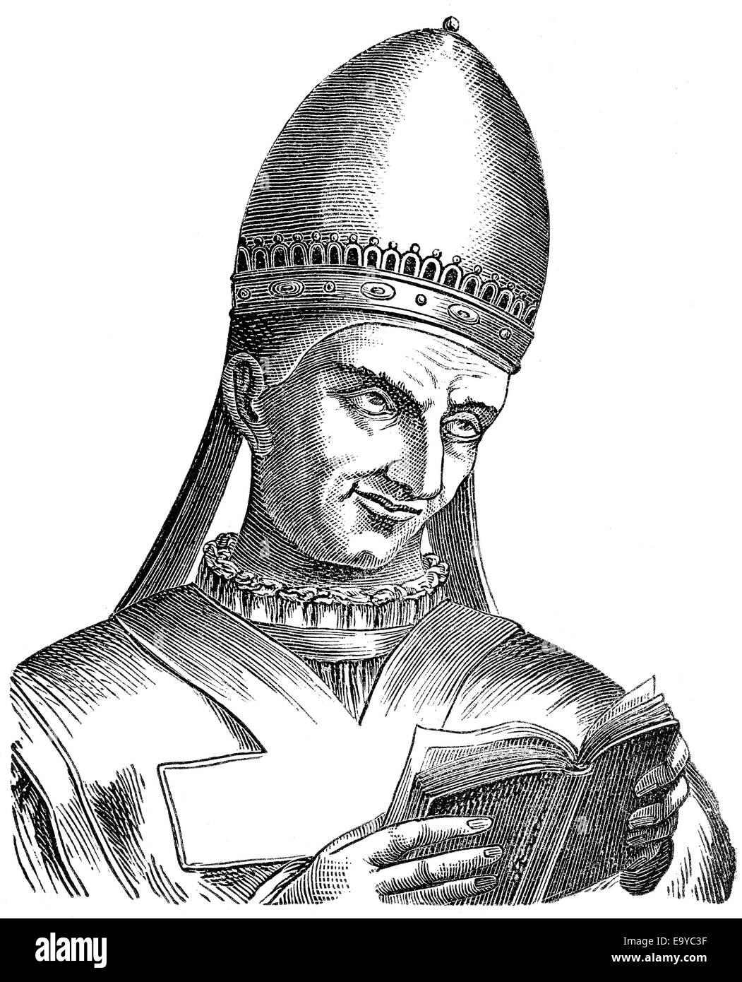 Papst Valentine oder Valentinus;  Papst für zwei Monate in 827, Papst Valentin Stockbild