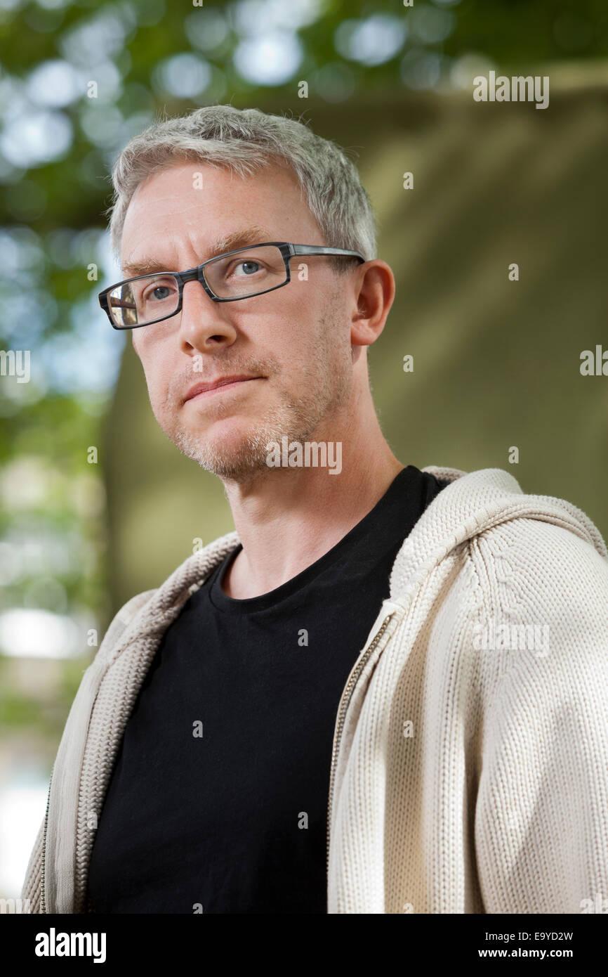 Alastair Bonnett, Autor und Professor für Sozialgeographie, das Edinburgh International Book Festival 2014. Stockbild