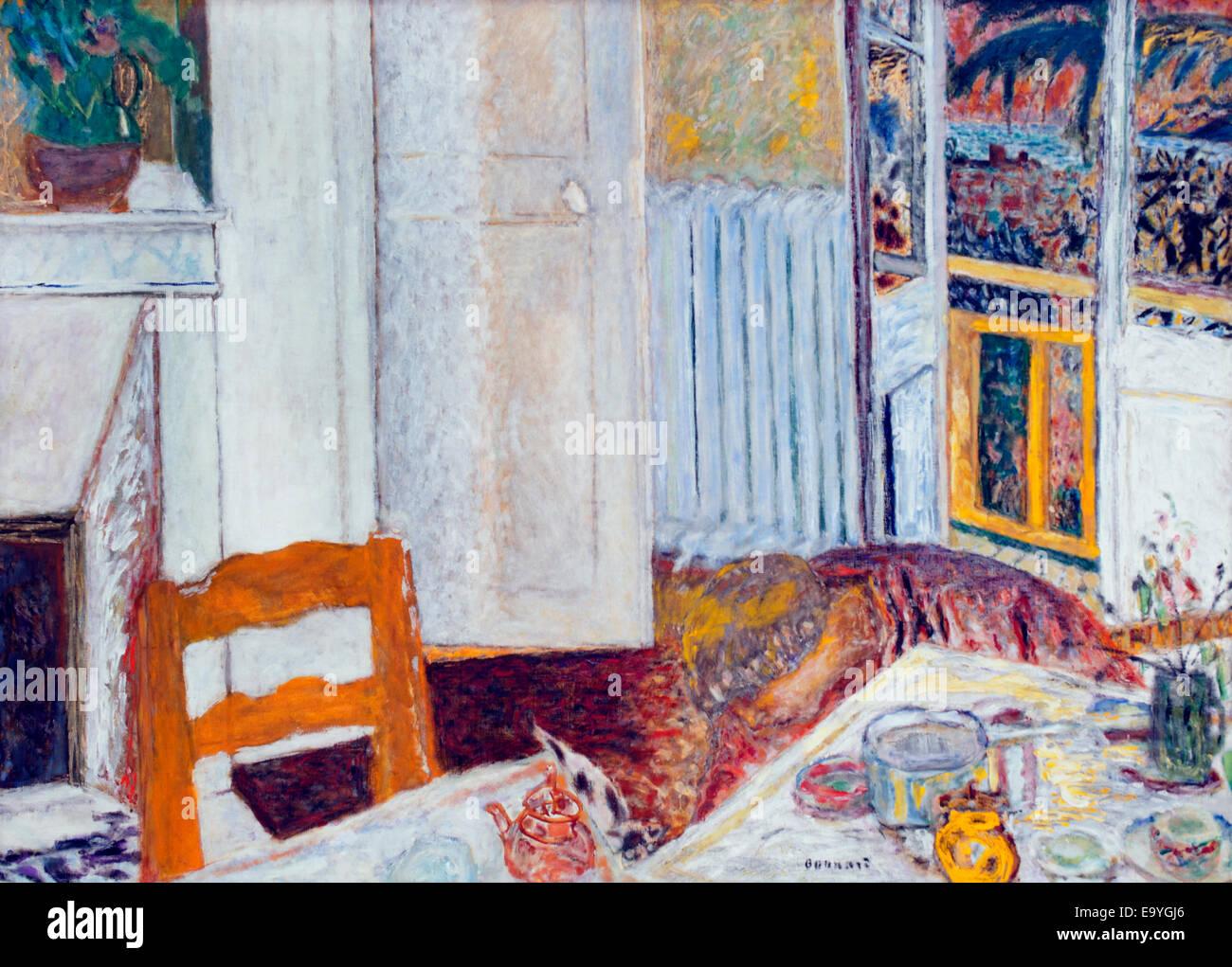 Intérieur Blanc - innen weiß 1932 Pierre Bonnard 1867-1947 Frankreich Französisch Stockbild