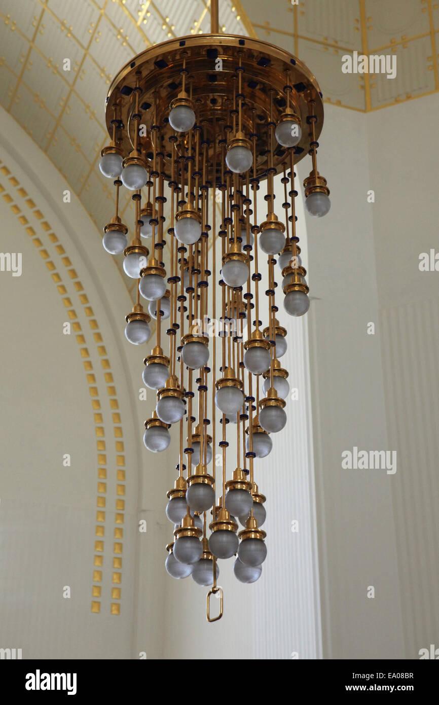 Jugendstil Lampe Entworfen Von Otto Wagner In Der Steinhof Kirche In