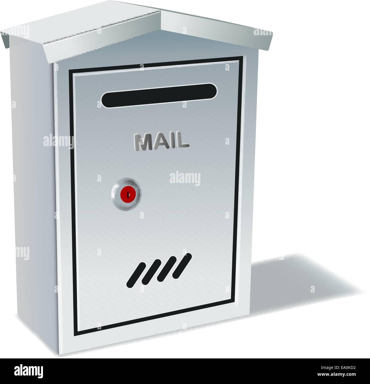 metall mailbox flagge vektor metall postfach auf weißem hintergrund eps10 datei verlaufsgitter und transparenz verwendet stockbild empty mailbox stockfotos bilder alamy