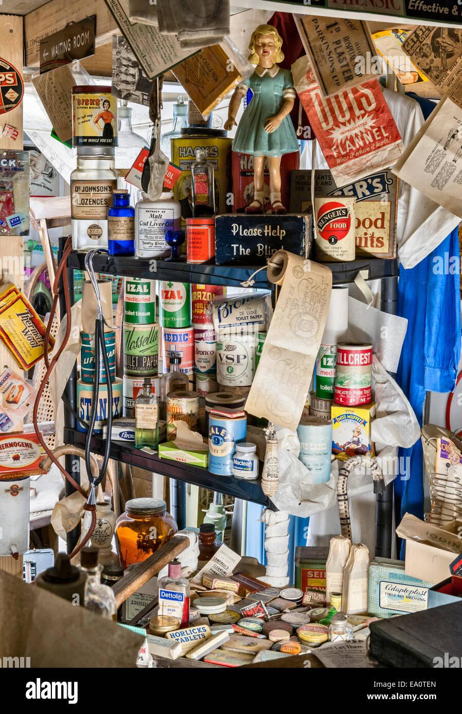 Der Land of Lost Content, ein Museum von 20c britischen Populärkultur, Craven Arms, Shropshire. Health care Stockbild