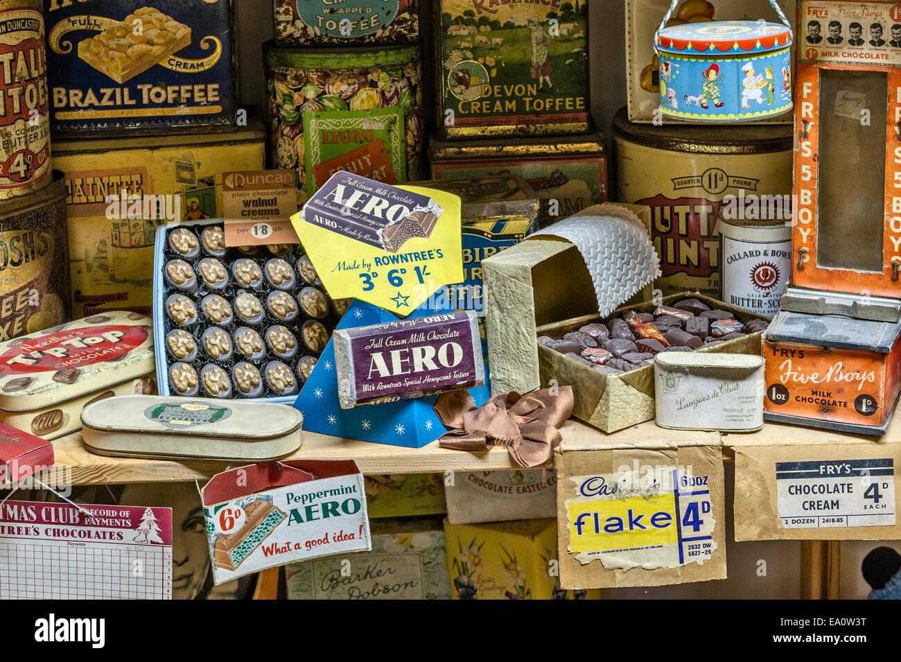 Der Land of Lost Content, ein Museum von 20c britischen Populärkultur, Craven Arms, Shropshire. Süßwaren Stockbild