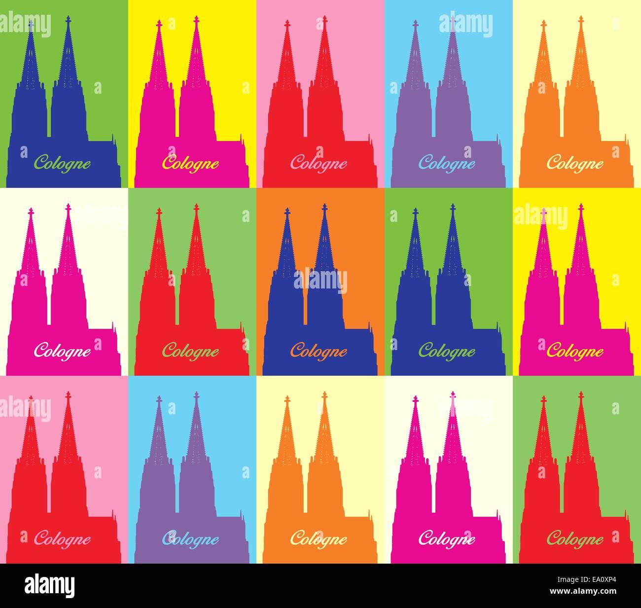 Kölner Dom Popart Stockfotos & Kölner Dom Popart Bilder - Alamy