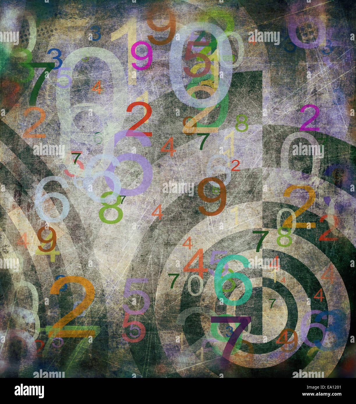 abstrakte Zahlen Hintergrund Stockbild