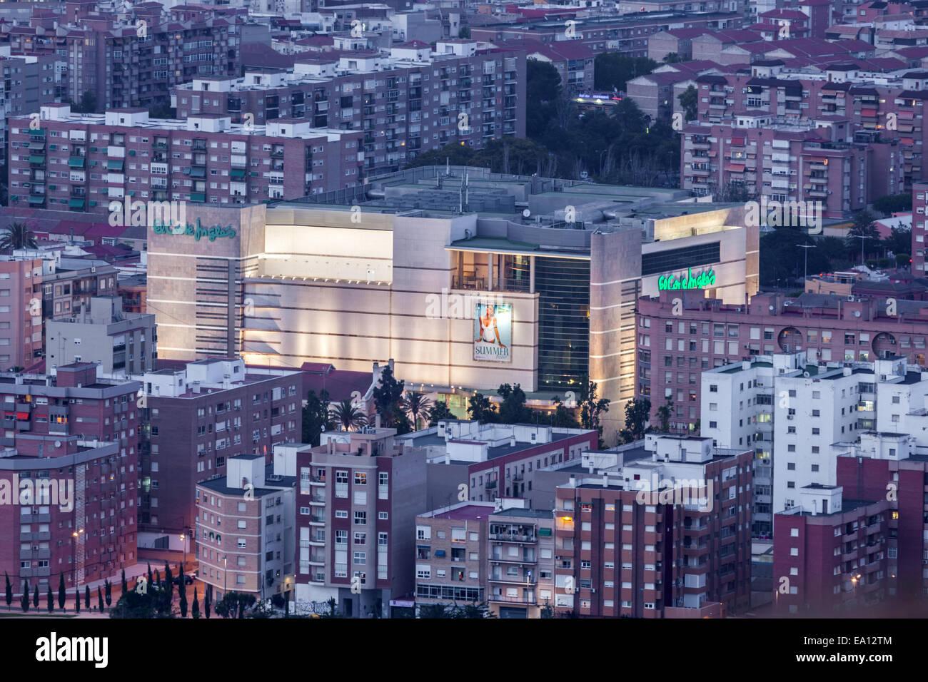 El Corte Ingles Einkaufszentrum in Cartagena, Spanien Stockbild