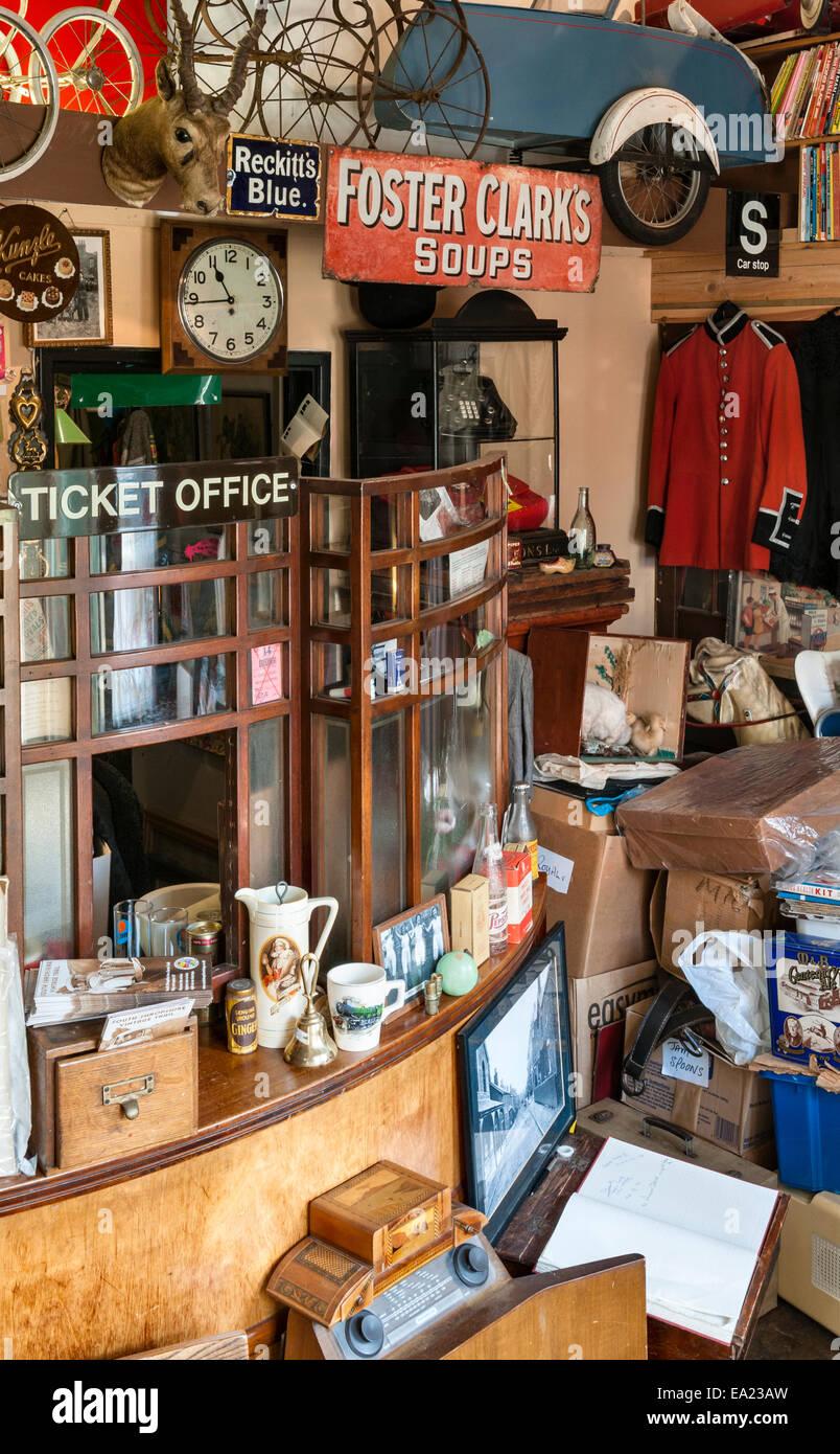 Der Land of Lost Content, ein Museum von 20c britischen Populärkultur, Craven Arms, Shropshire. Eingang und Stockbild