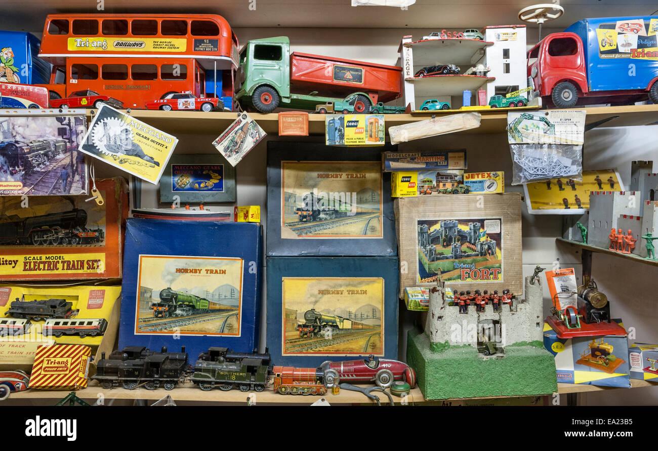 Der Land of Lost Content, ein Museum von 20c britischen Populärkultur, Craven Arms, Shropshire. Kinderspielzeug Stockbild