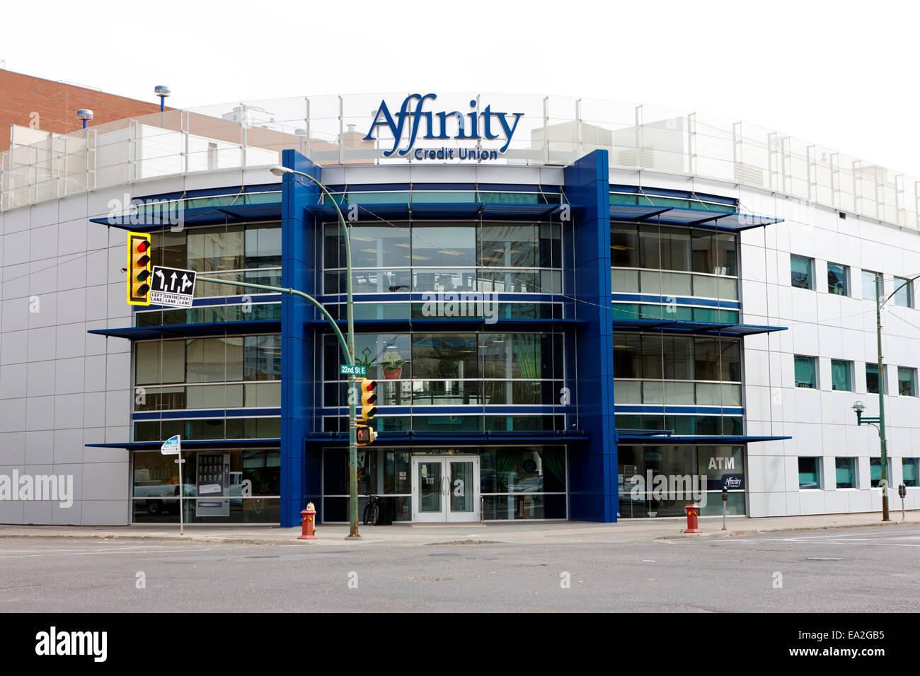 Affinity Credit Union Saskatoon, Saskatchewan, Kanada Stockbild