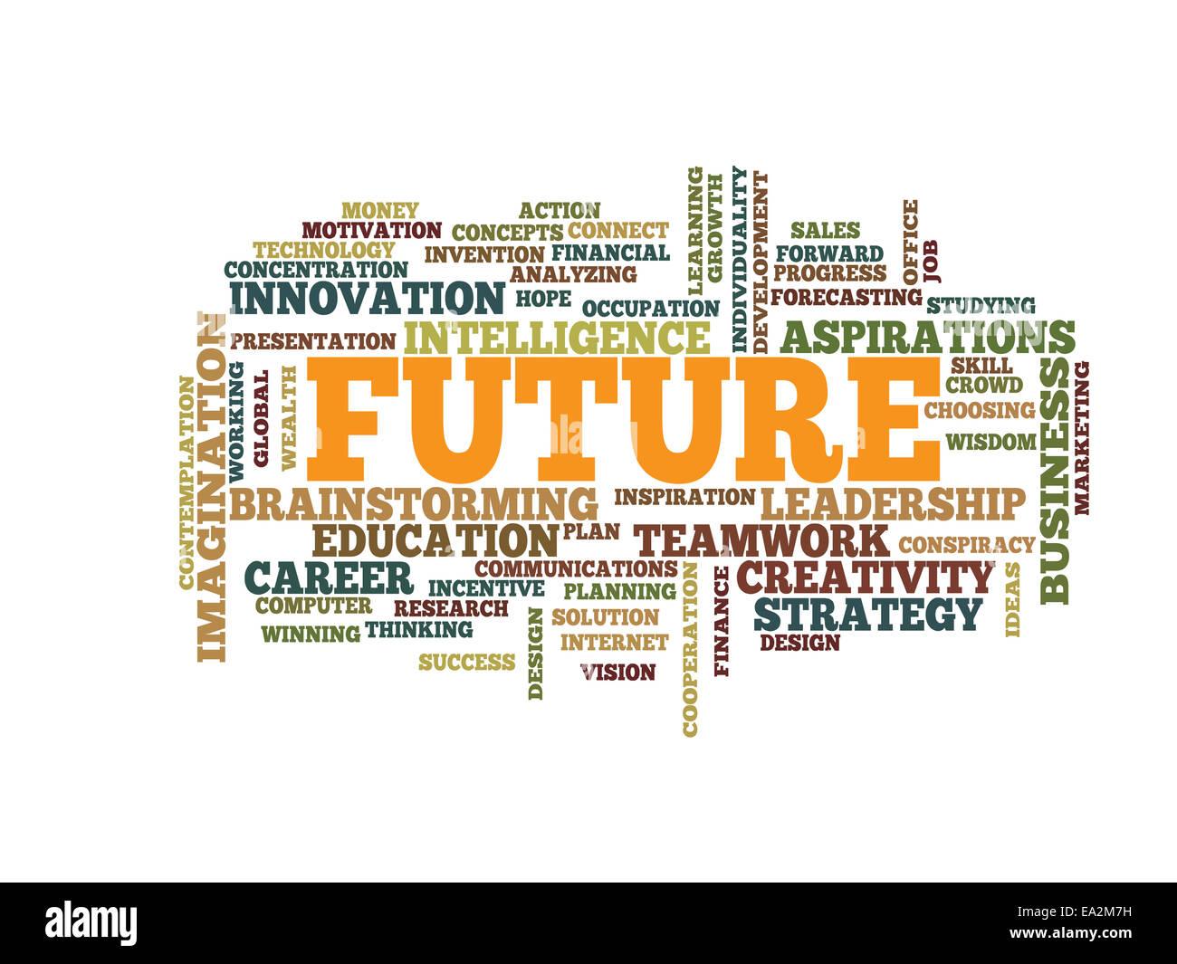 Wirtschaft-Zukunftskonzept Wortwolke Stockbild