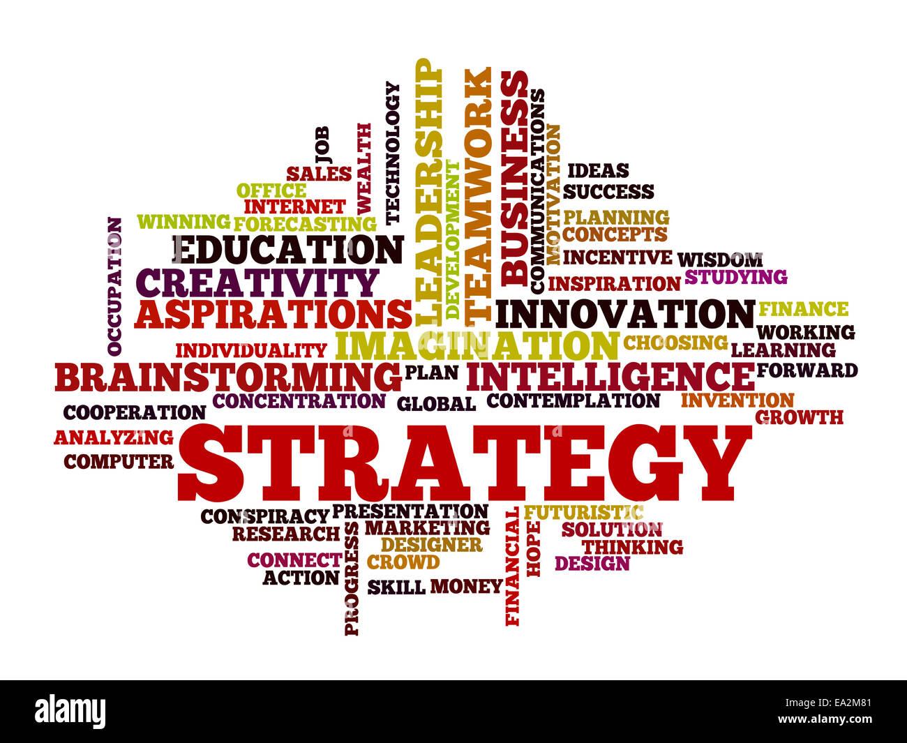 Business-Strategie Konzept Wortwolke Stockbild