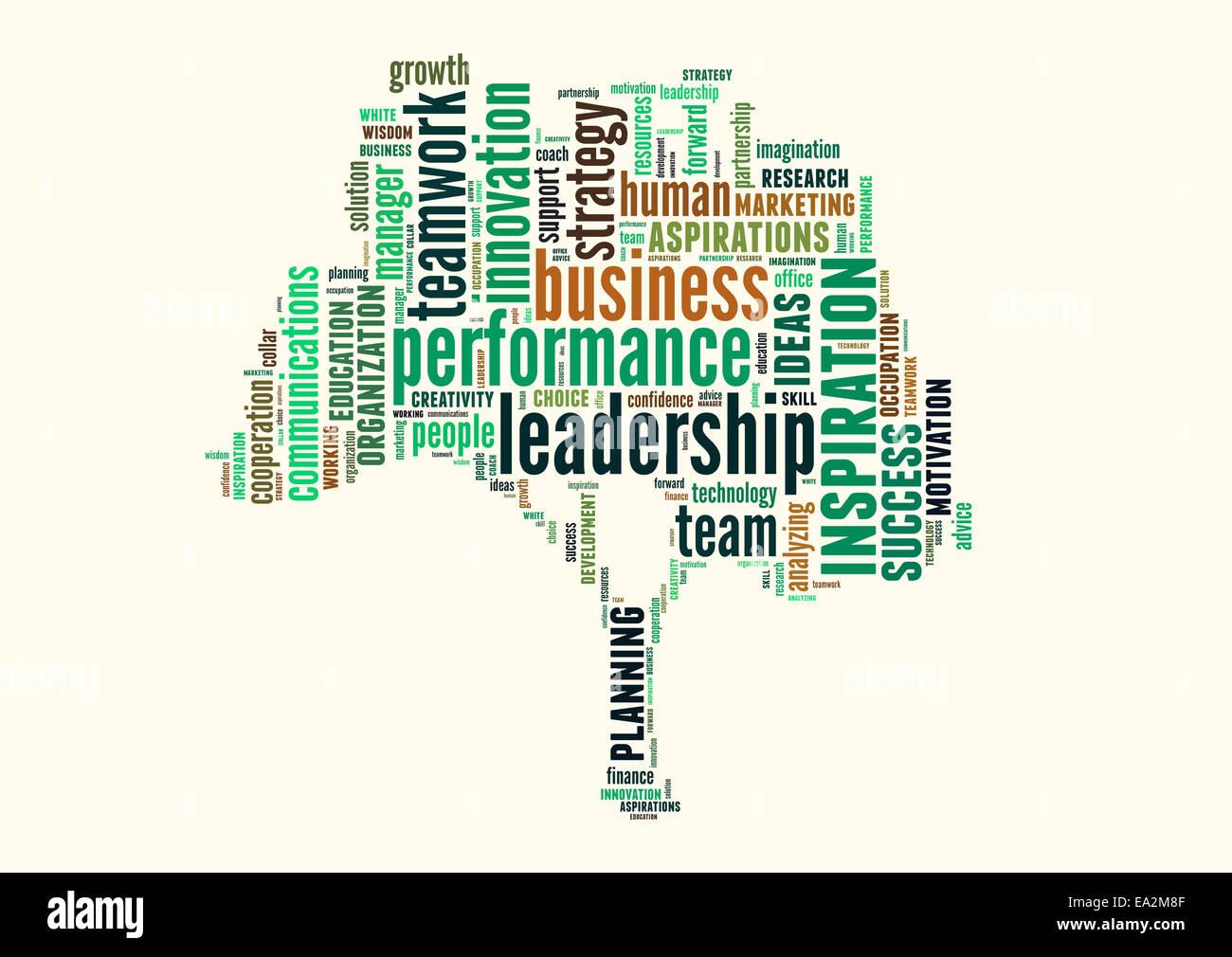 Konzeptionelle Text Wortwolke oder Tagcloud isoliert auf weißem Hintergrund, Metapher für Business, Team, Stockbild
