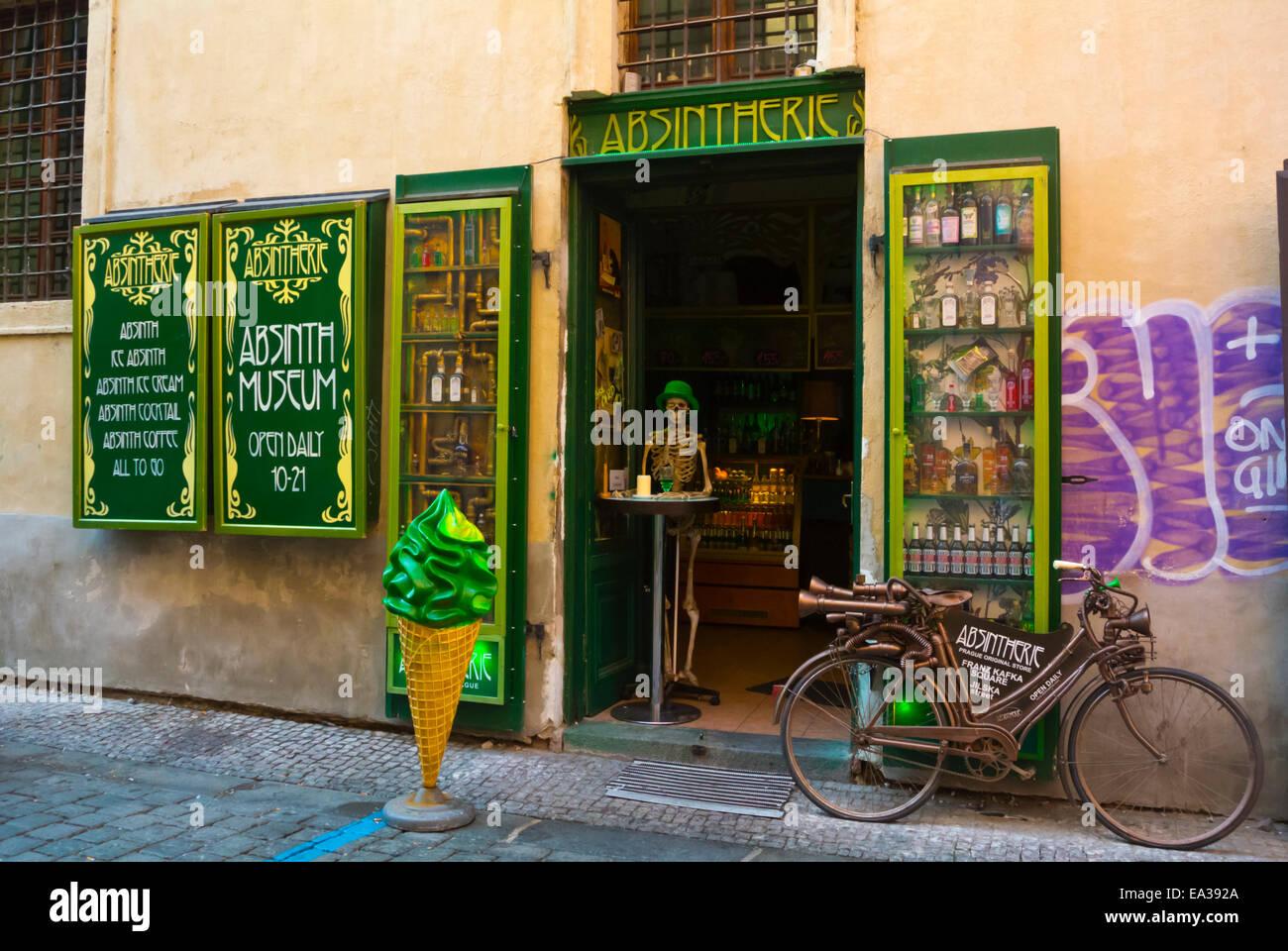 Absintherie, Absinth-Museum, bar, alte Stadt, Prag, Tschechische Republik, Europa Stockbild