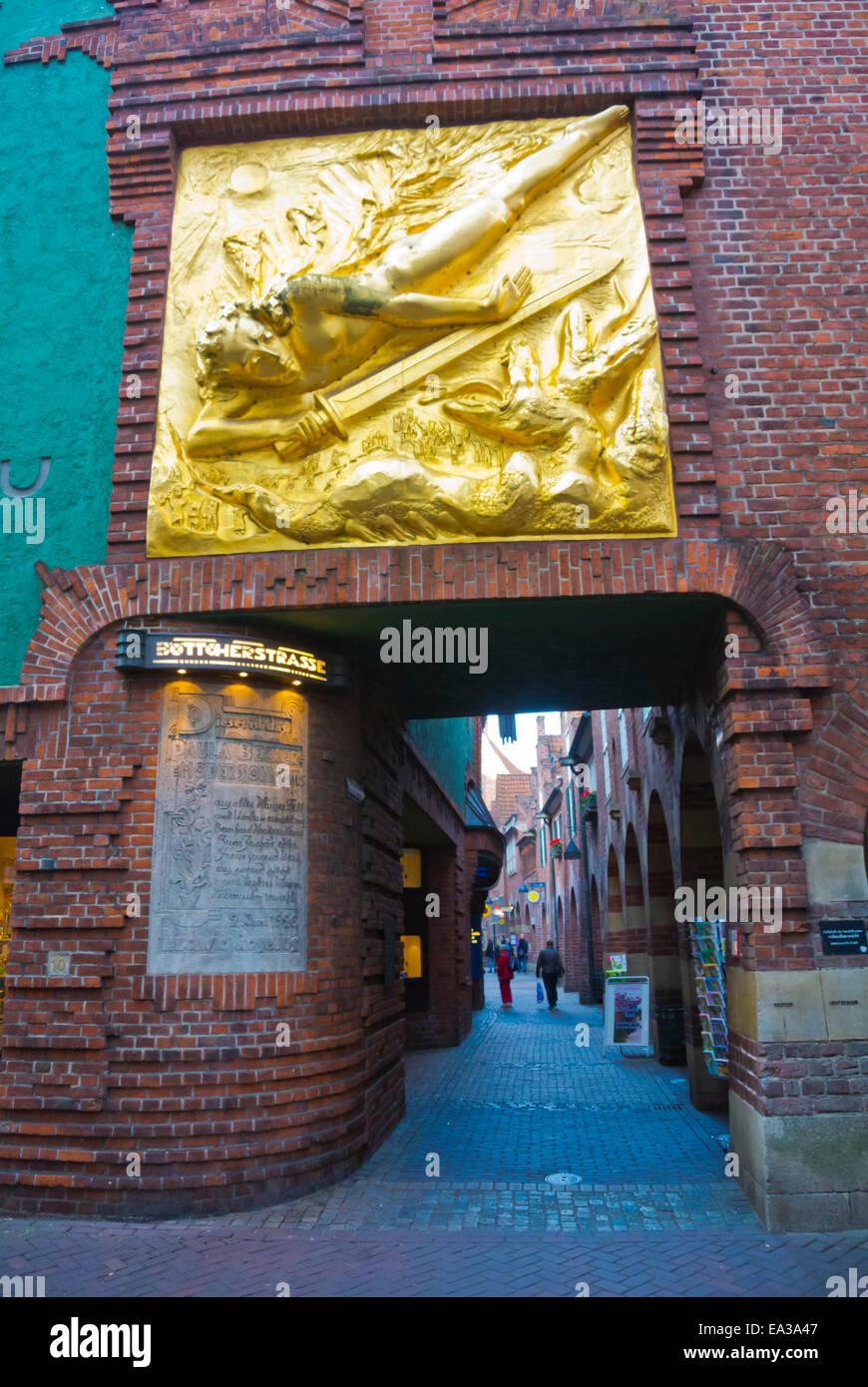 Böttcherstrasse Straße, Altstadt, Altstadt, Bremen, Deutschland Stockbild