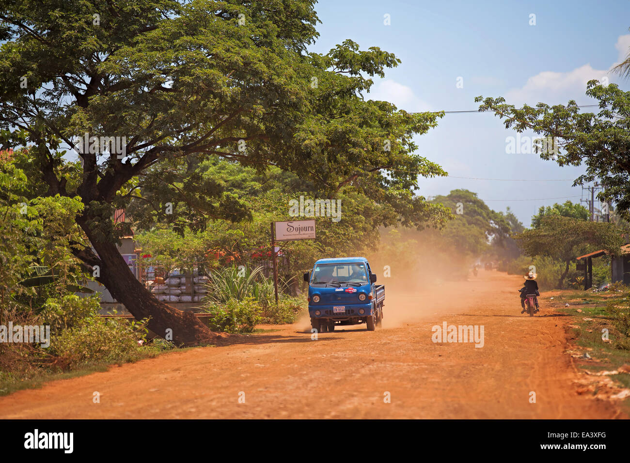 Kambodschanische Alltag Stockbild