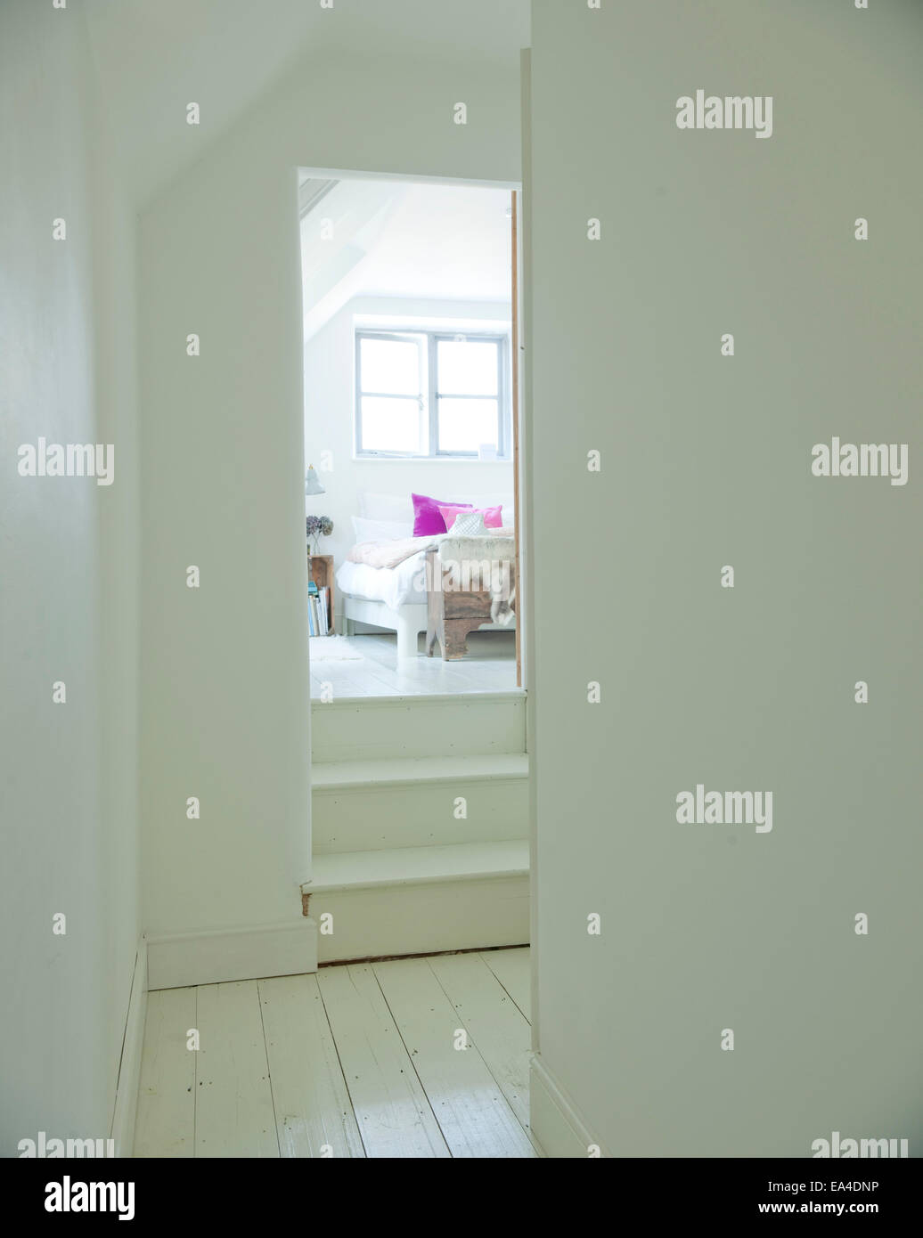 Interiors Bedroom Attic Traditional Stockfotos & Interiors Bedroom ...