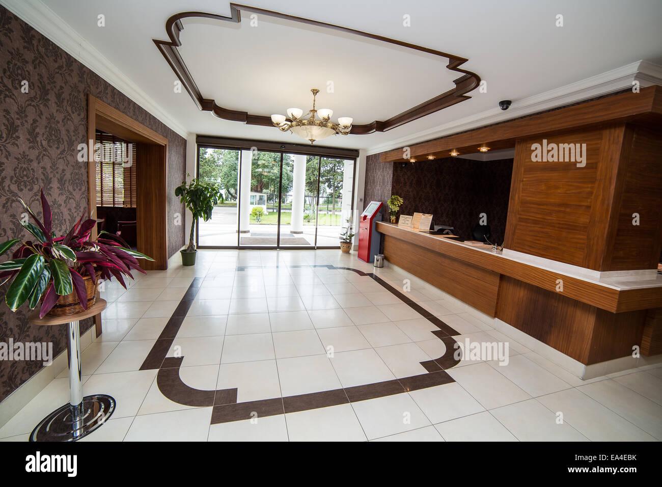 Innenarchitektur Halle luxus lobby im hotel rezeption halle innenarchitektur stockfoto