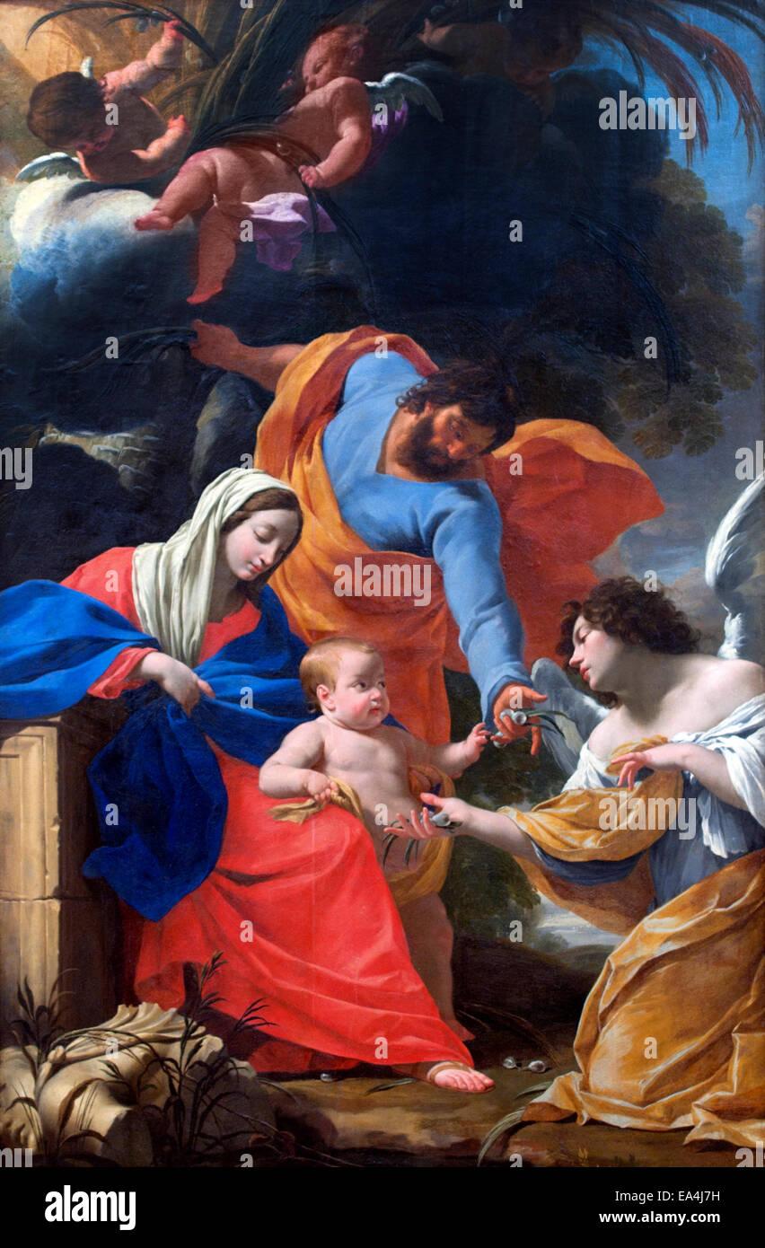Le Repos de Ägypten - Rest in Ägypten Simon Vouet 1590 ?1649 französische Maler einführen den Stockbild