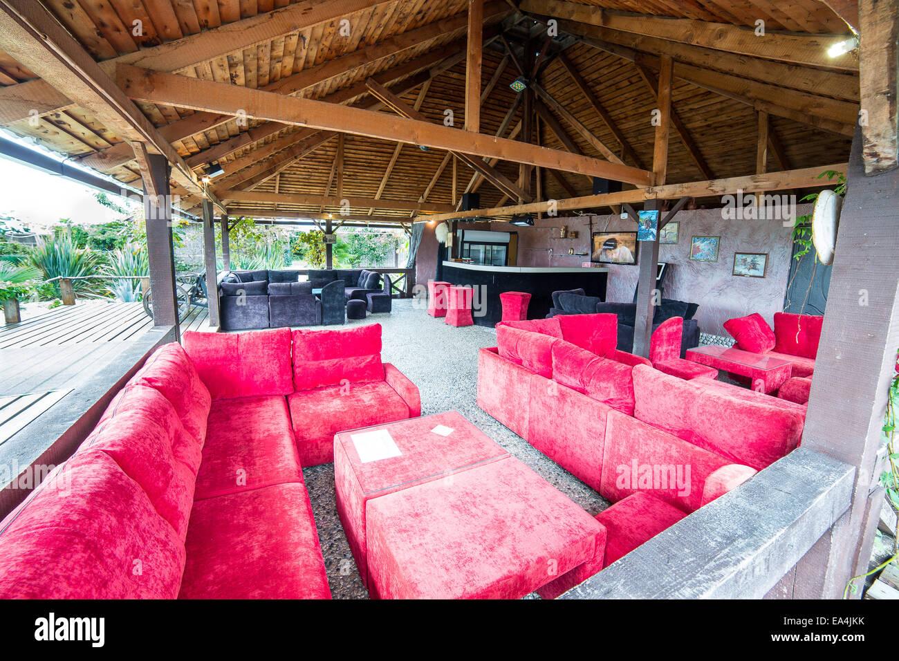 Innenarchitektur modernes restaurant Stockbild