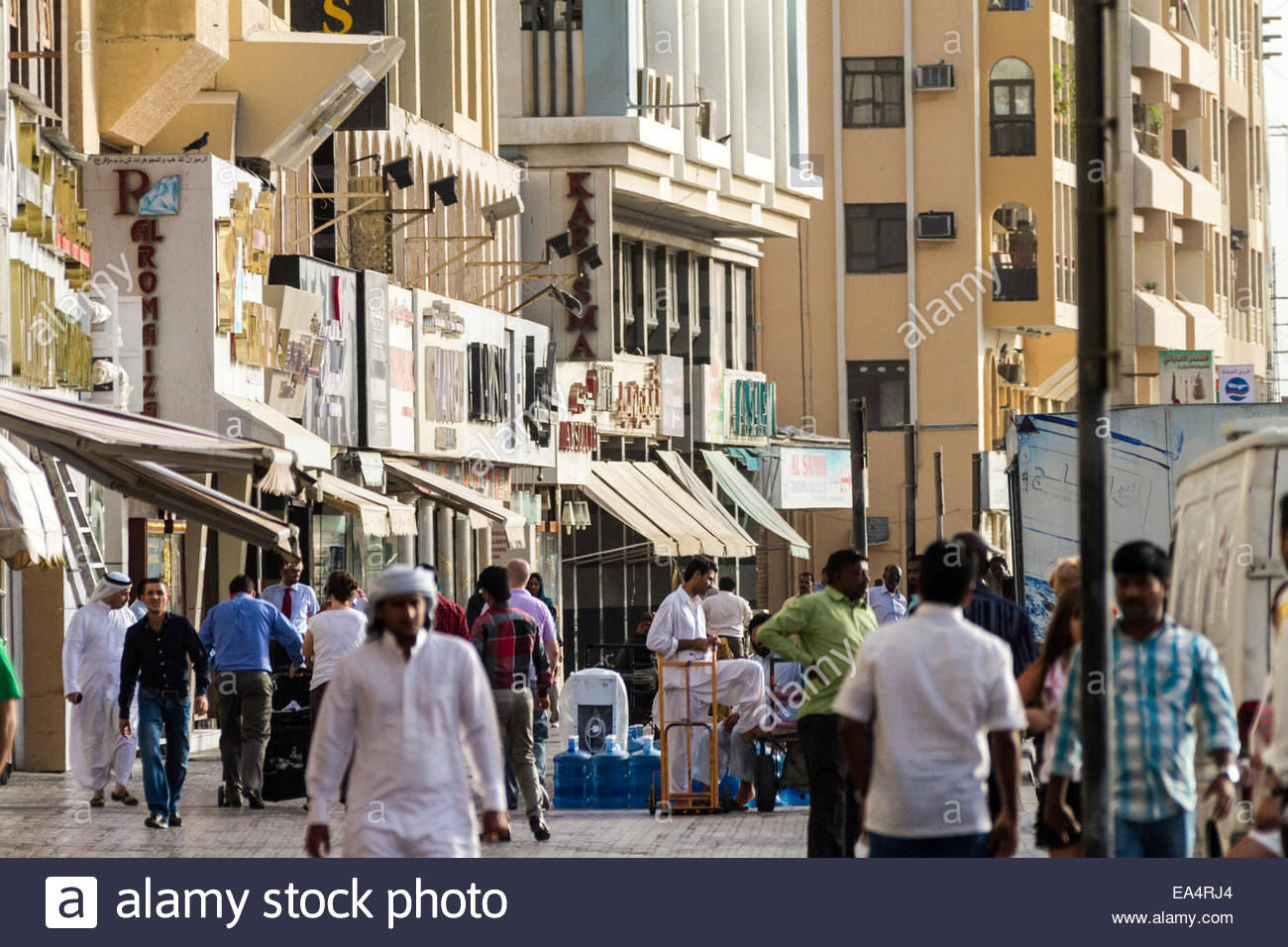 Blick auf Diamant Markt - Vereinigte Arabische Emirate - Dubai Stockbild