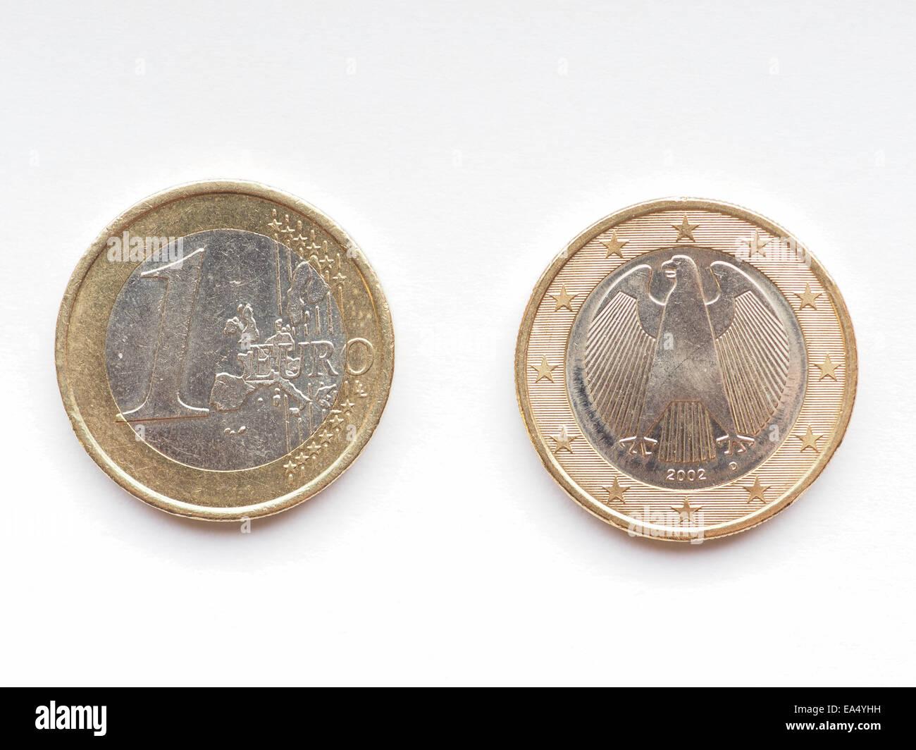 Deutsch Eine Euromünze Aus Deutschland Währung Der Europäischen