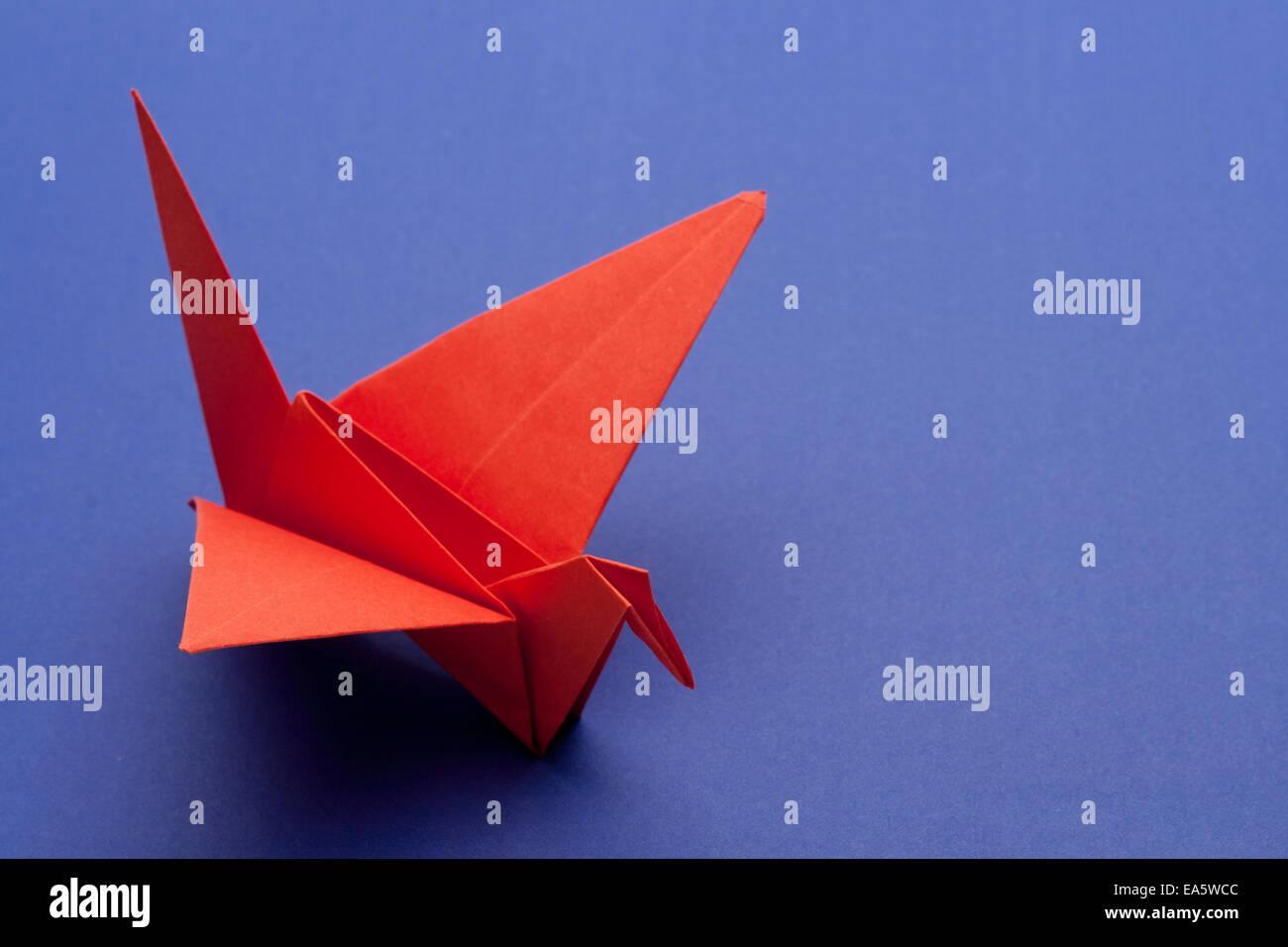 Origami-Papier-Kranich Stockbild