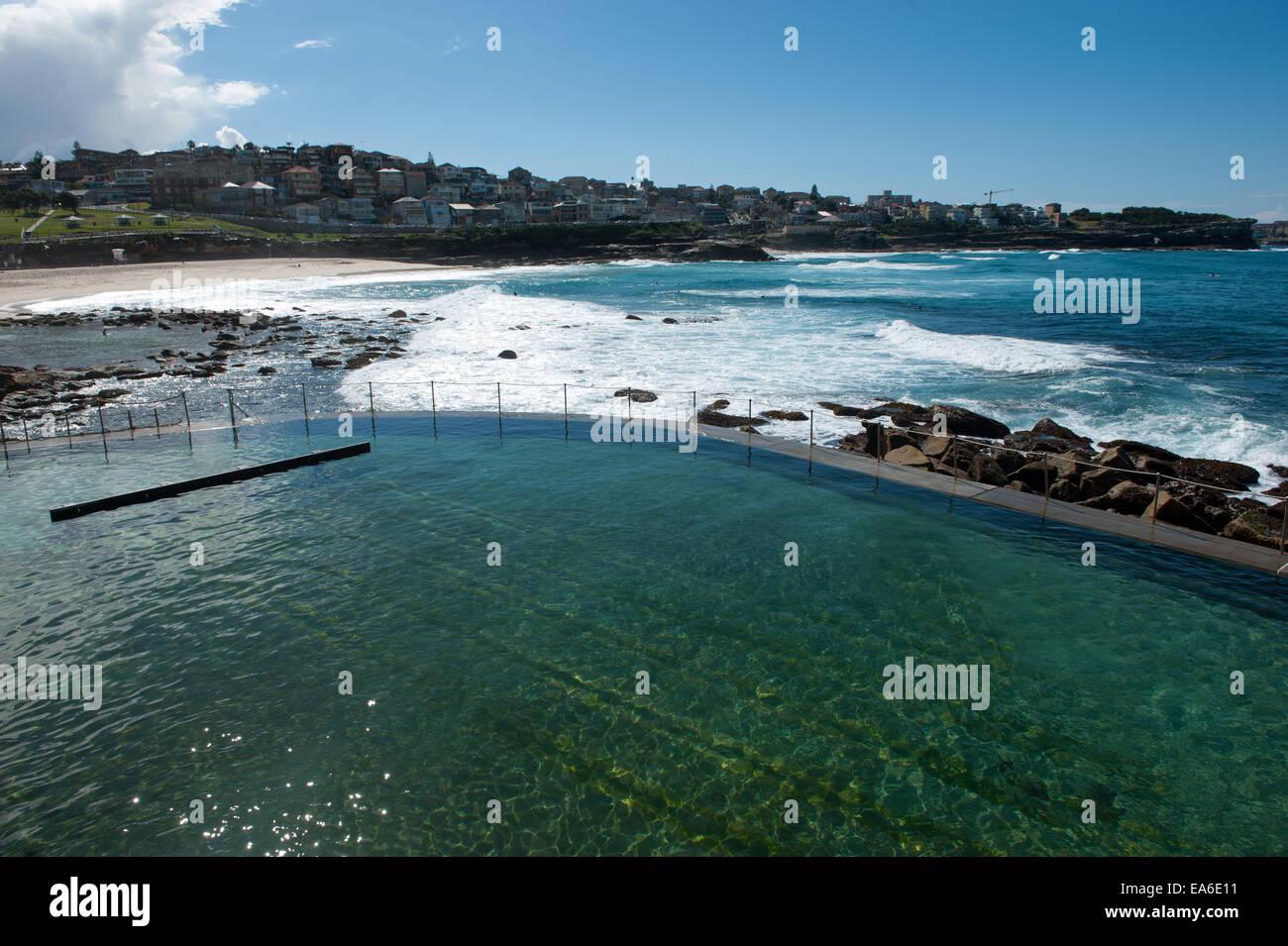 Australien, Sydney, Bronte öffentlicher pool Stockbild