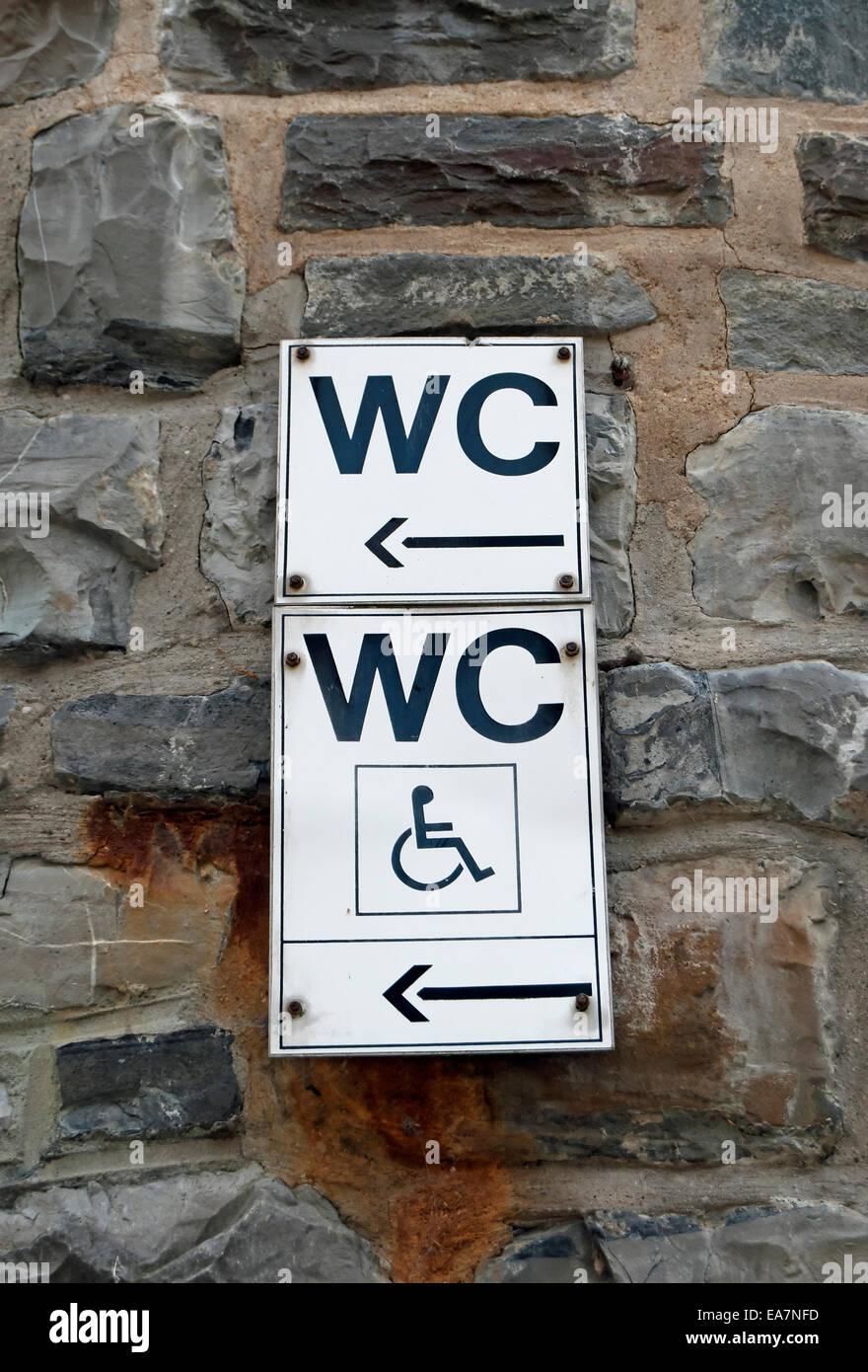 Japanische Toilette Deutschland toilet signs stockfotos toilet signs bilder alamy