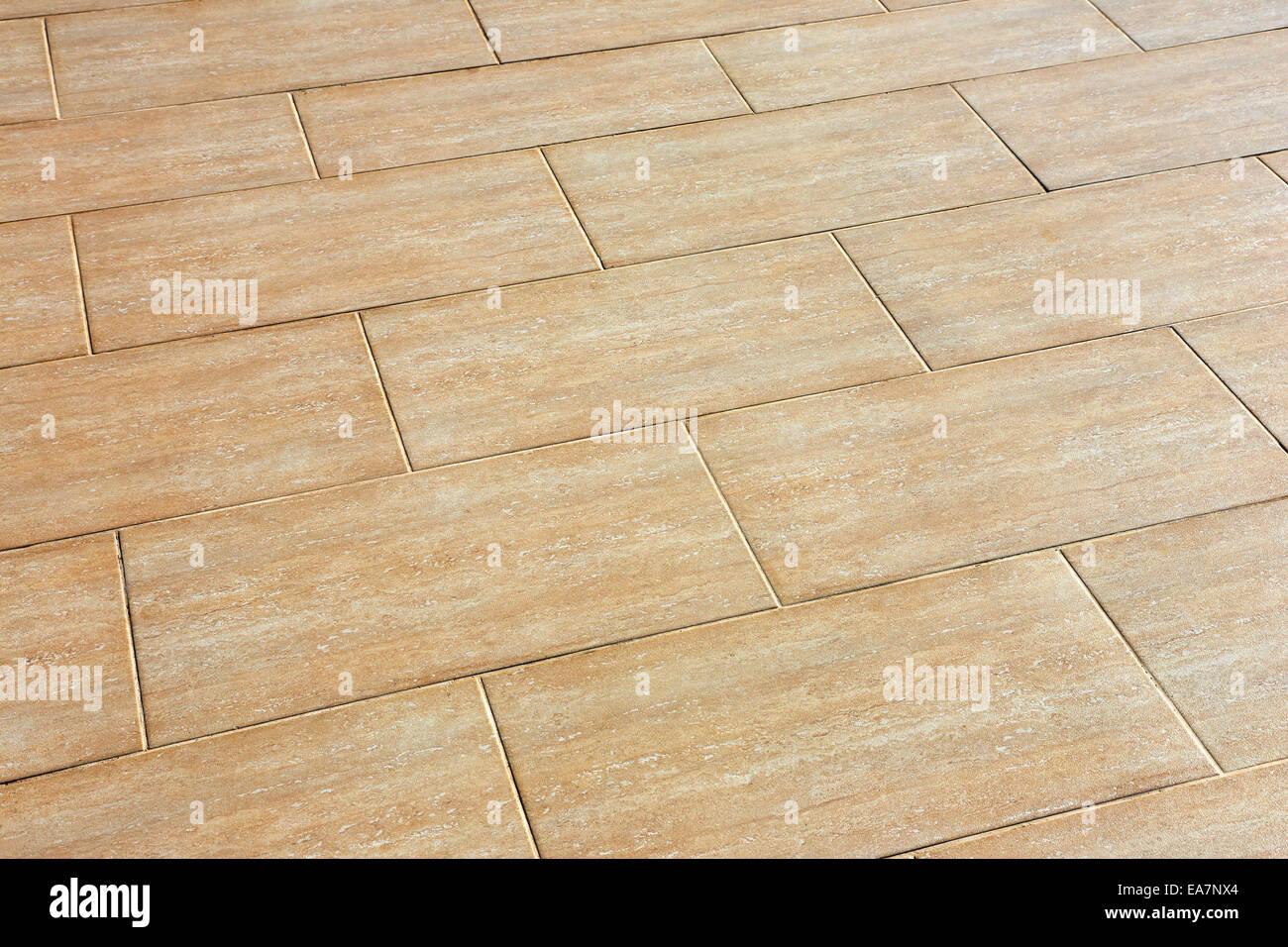 Keramikfliesen, die Beige Farbe auf dem Boden Stockfoto, Bild ...