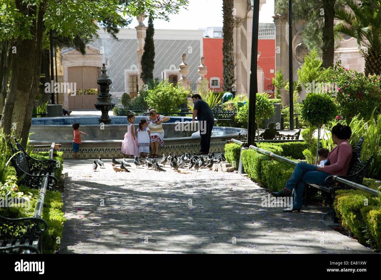 Jardin De La Paz im Stadtteil Barrio del Encino, Aguascaliente ...