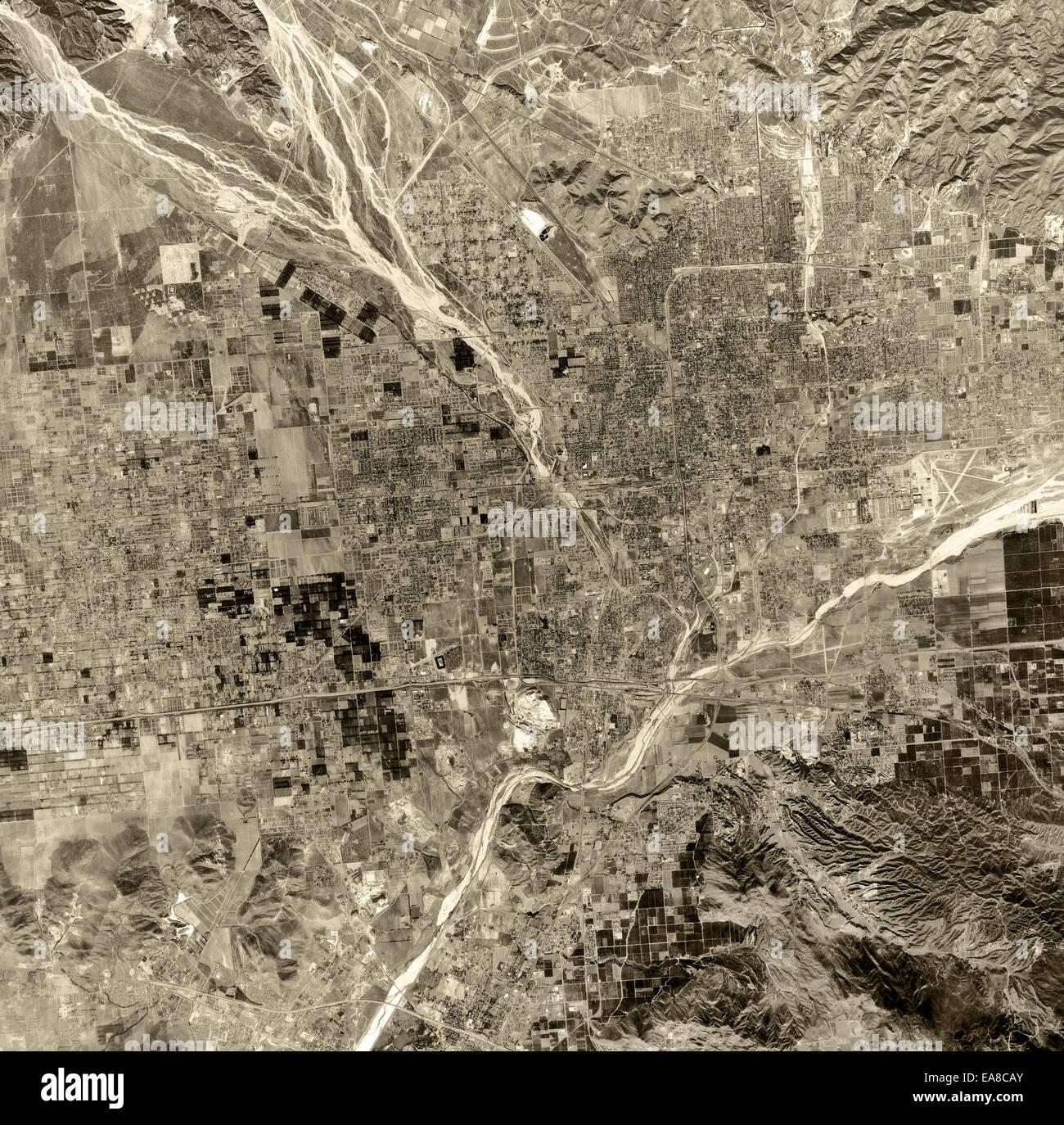 Historische Luftaufnahme Stockbild