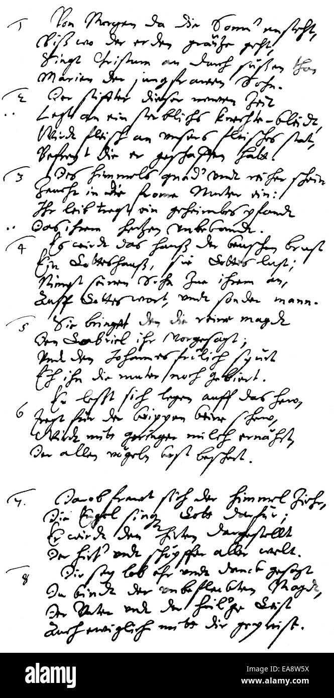 Gedicht Von Martin Opitz Von Boberfeld 1597 1639 Der