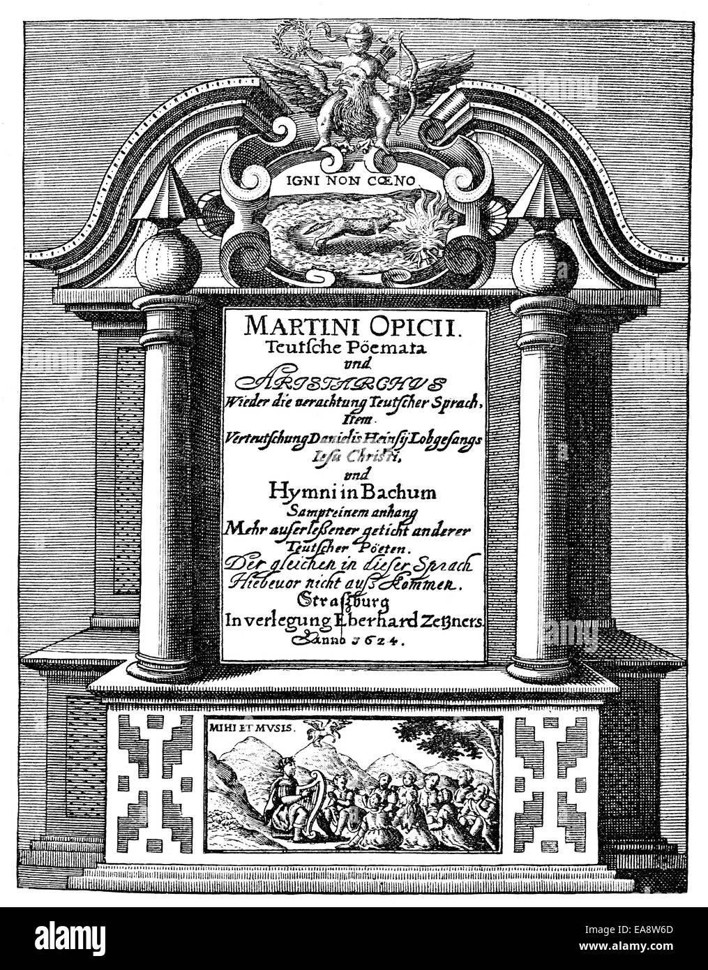 Titel Der Gedichte Von Martin Opitz Von Boberfeld 1597 1639