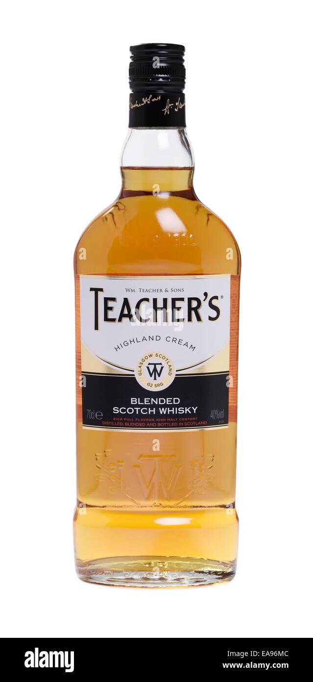 Flasche Lehrer blended Scotch whisky Stockbild