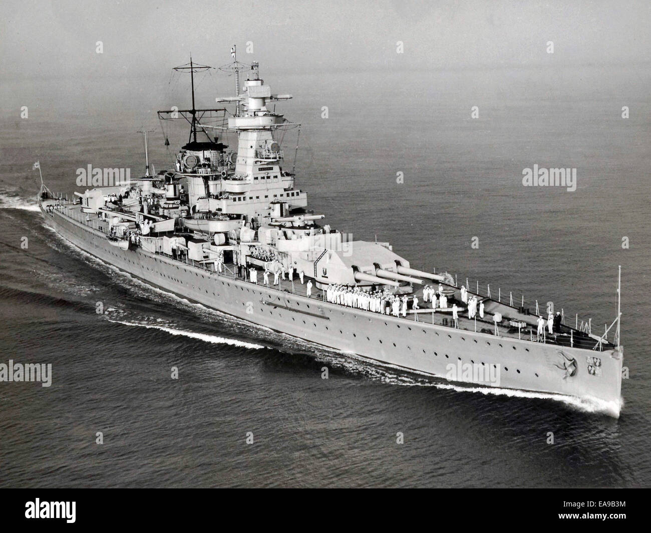 Graf Spee, Deutschland-Klasse schwerer Kreuzer, deutsche Kriegsschiff Zweiter Weltkrieg Graf Spee Stockbild